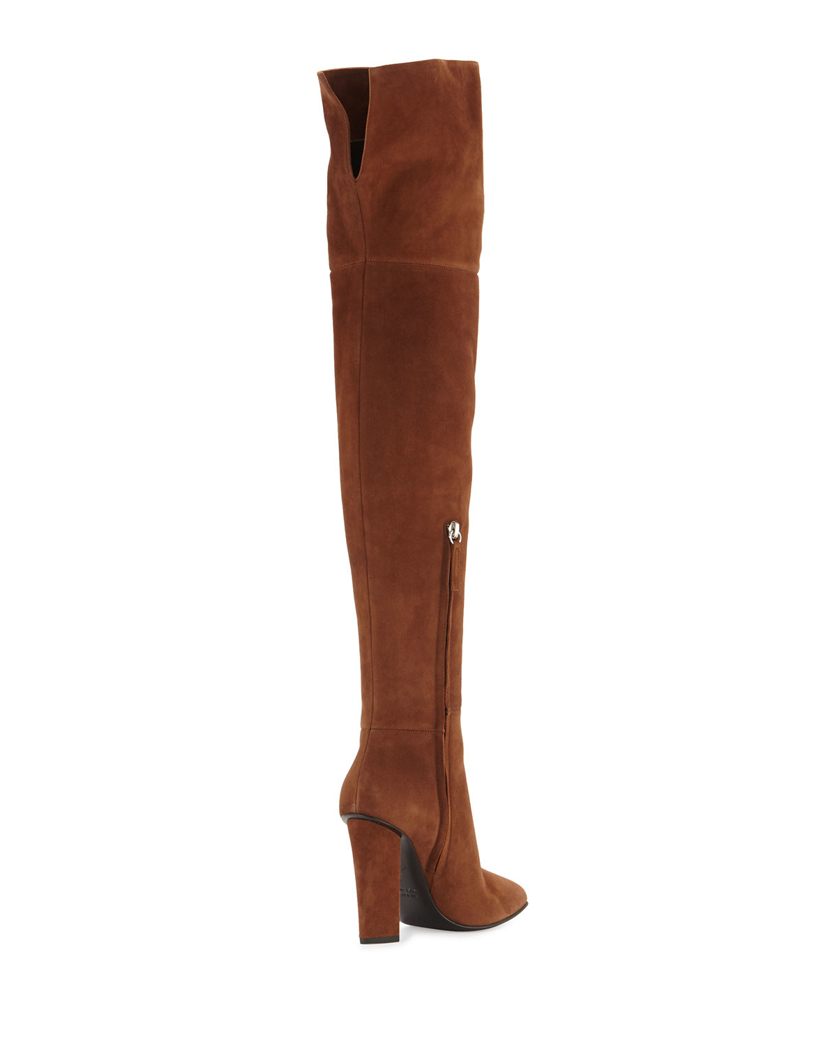 eb50c7e8eef Lyst - Giuseppe Zanotti Alabama Suede Over-the-knee Boot in Brown