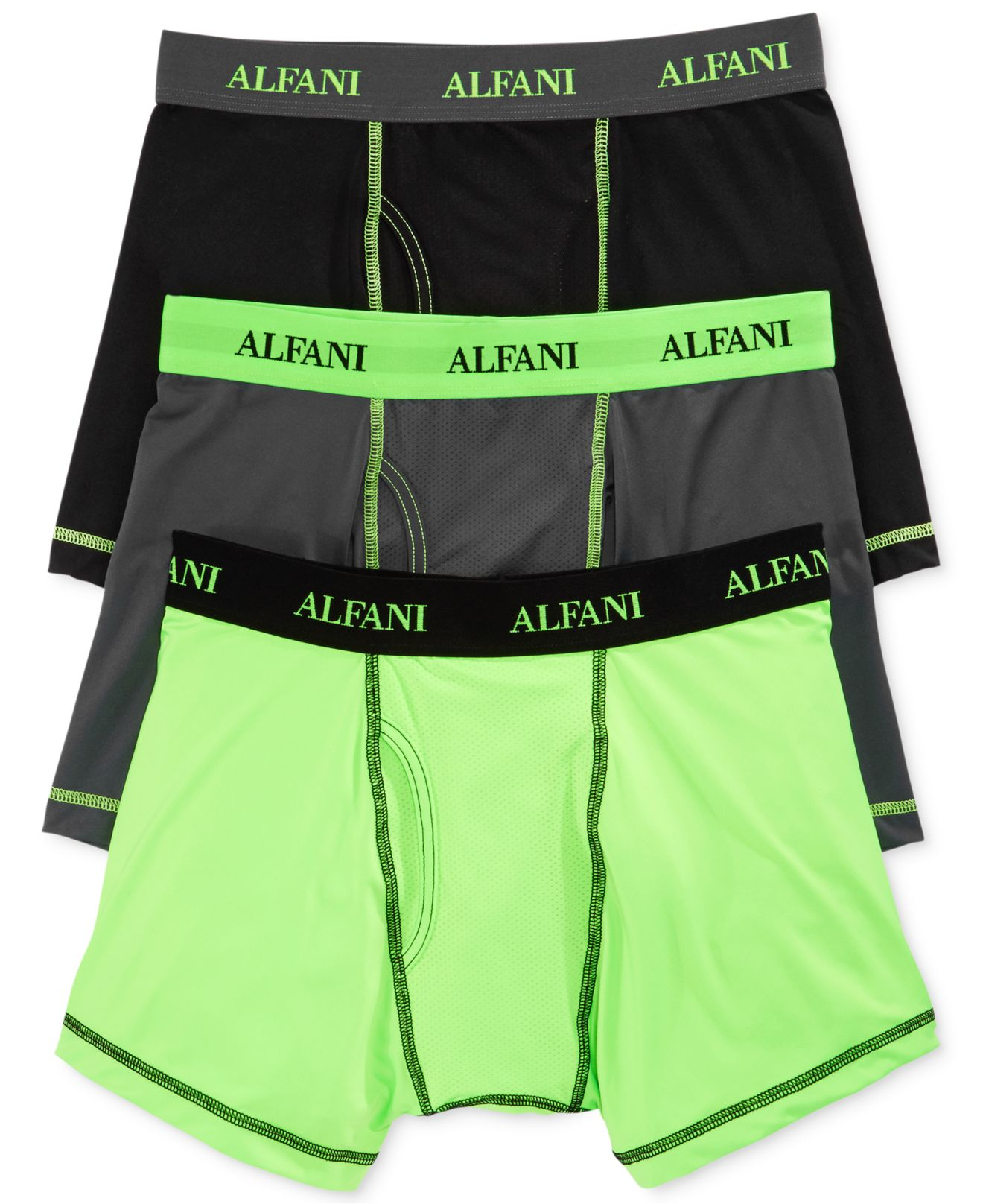 95e4c1a3718d Lyst - Alfani Men s Athletic Boxer Briefs 3-pack in Green for Men