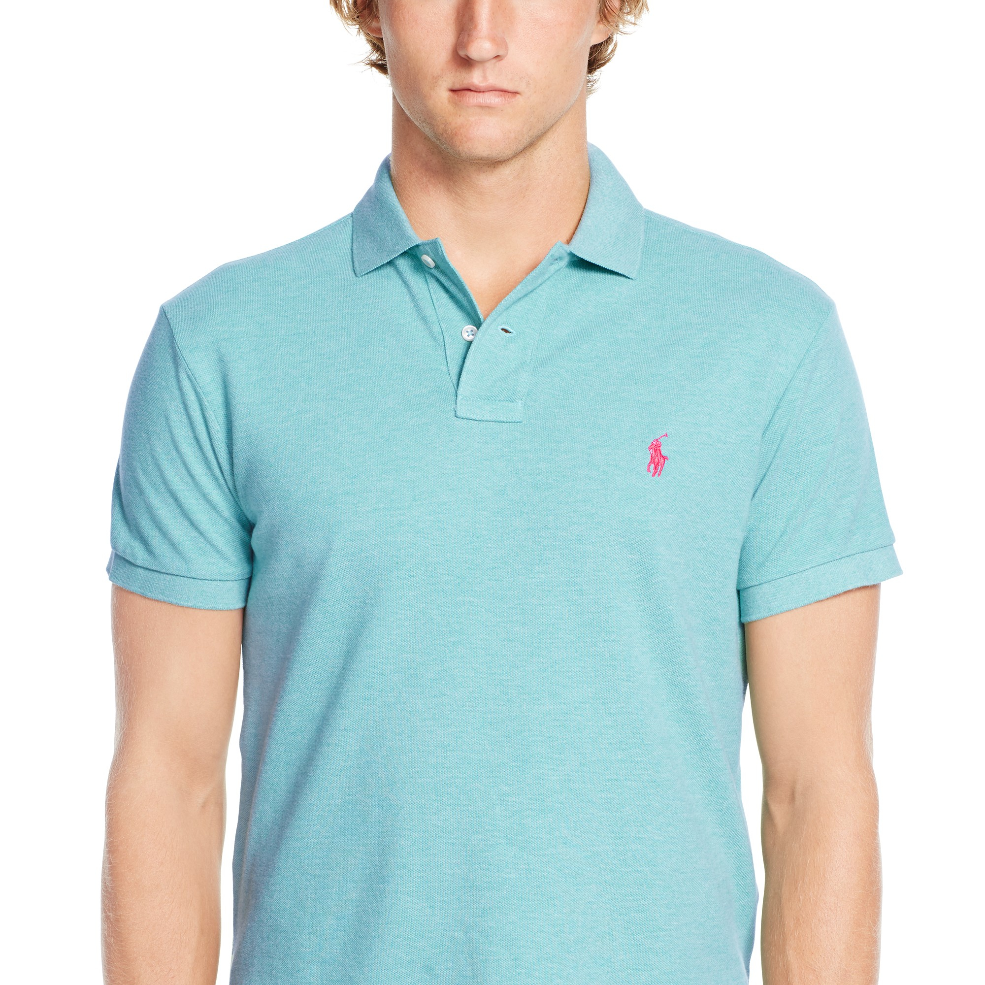 4741f555b077 ... italy pink pony polo slim fit polo shirt in blue for men lyst 38517  c4fb0