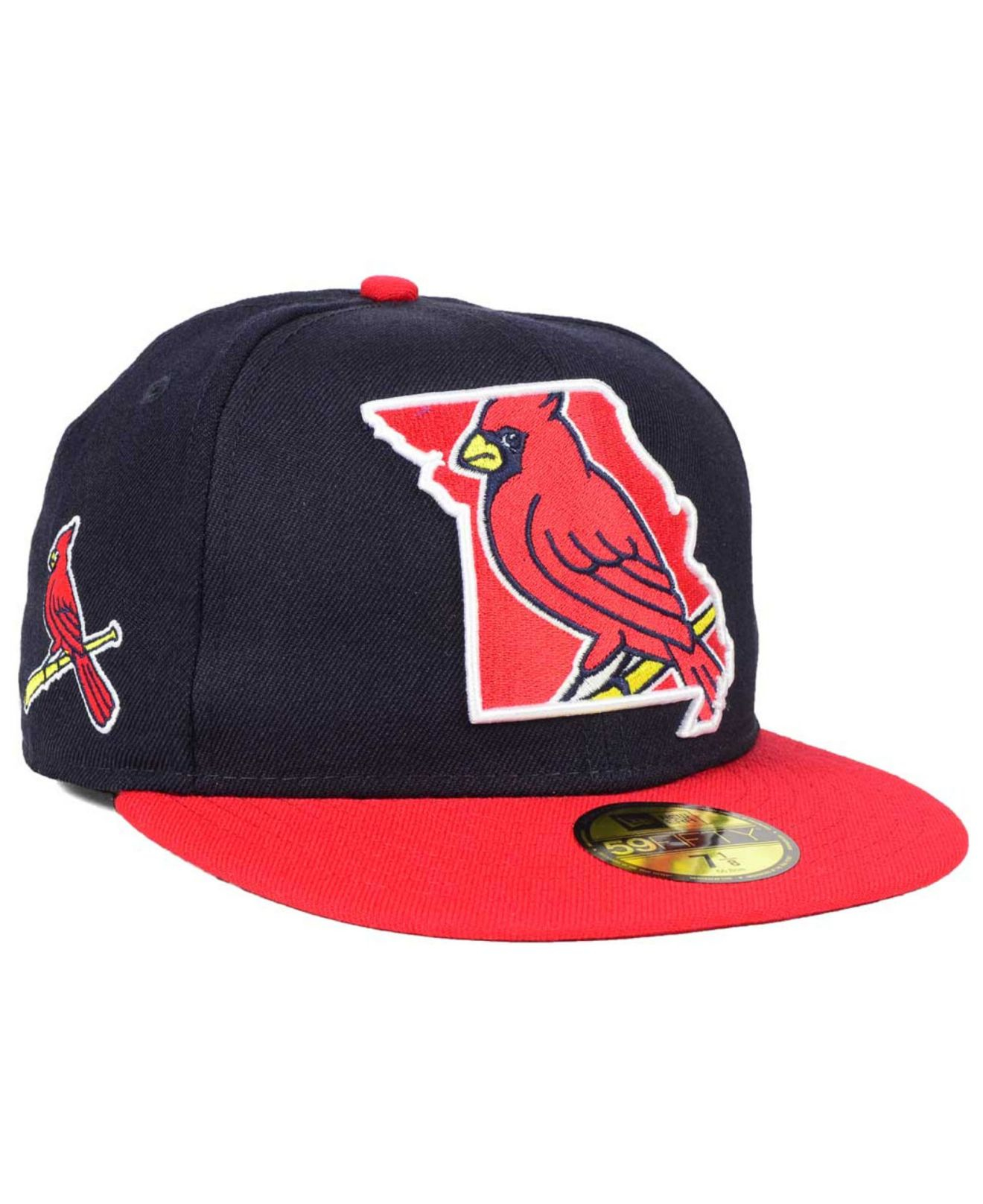 sports shoes d09bd 94b97 ... coupon code for lyst ktz st. louis cardinals big state 59fifty cap in  blue for