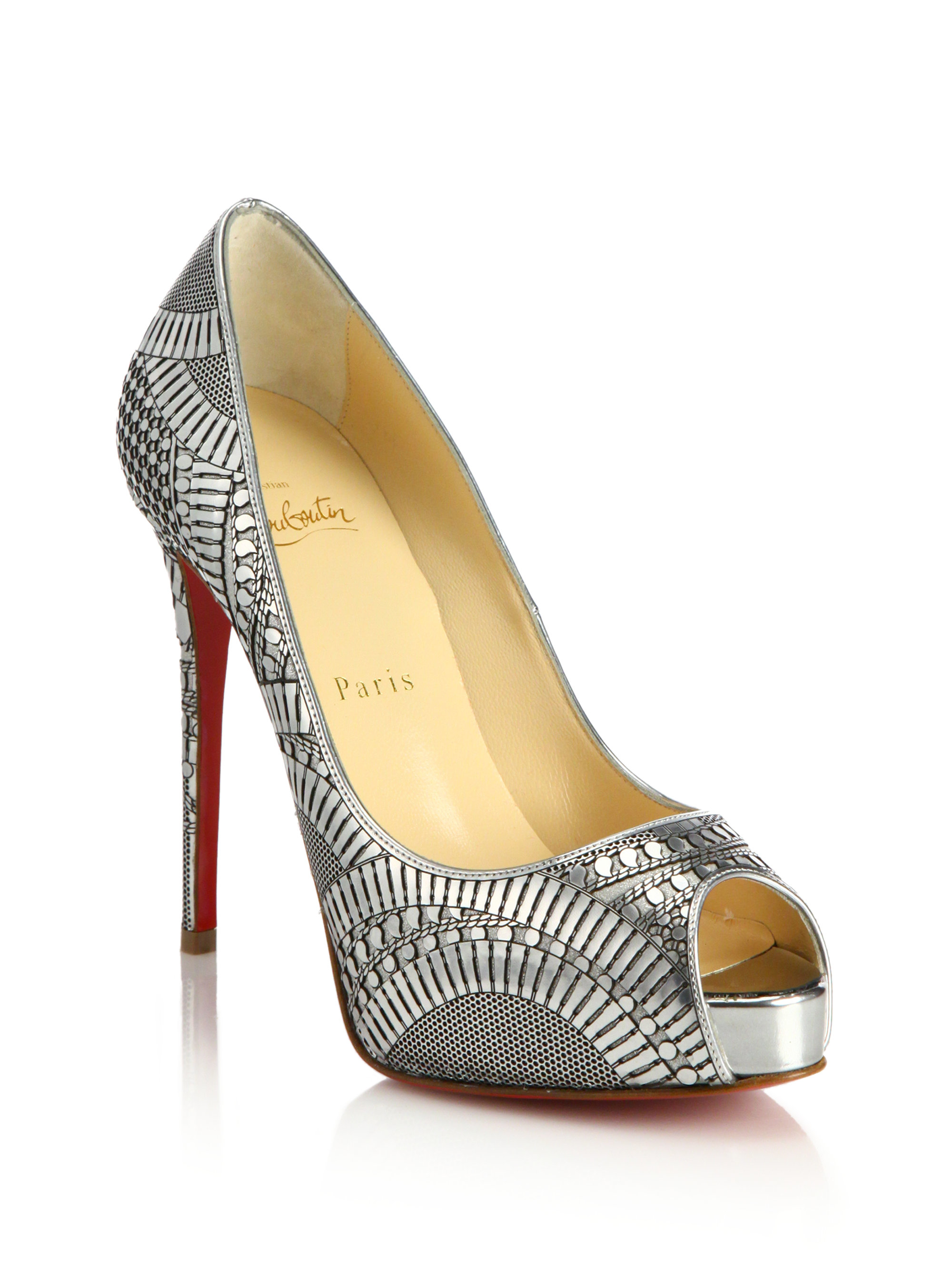 where can i buy louboutin replicas - Artesur ? christian louboutin metallic leather peep-toe pumps Gold ...