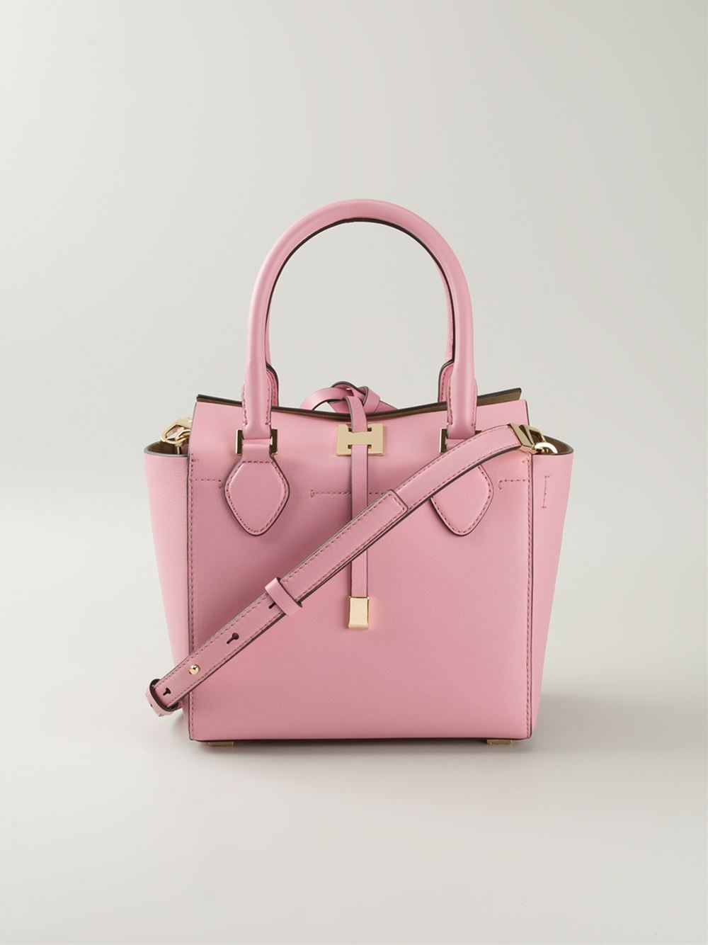 michael kors extra small 39 miranda 39 tote in pink lyst. Black Bedroom Furniture Sets. Home Design Ideas