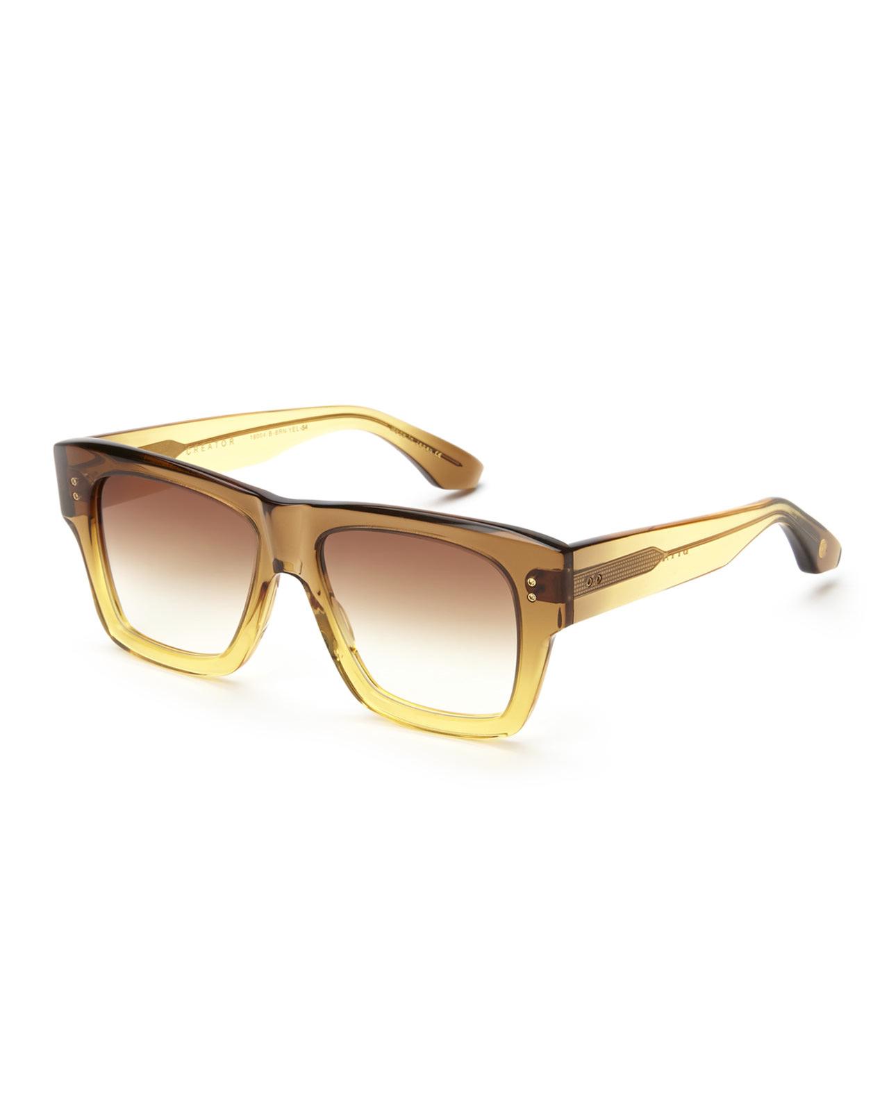 Dita Creator Sunglasses  dita 19004 creator square wayfarer sunglasses in brown lyst