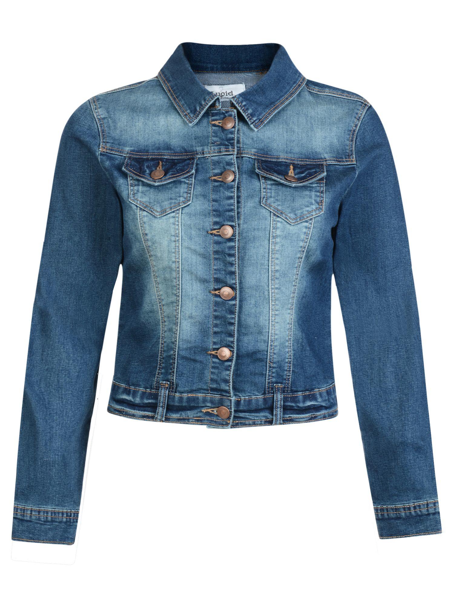 Urban bliss Stretch Denim Jacket in Blue | Lyst