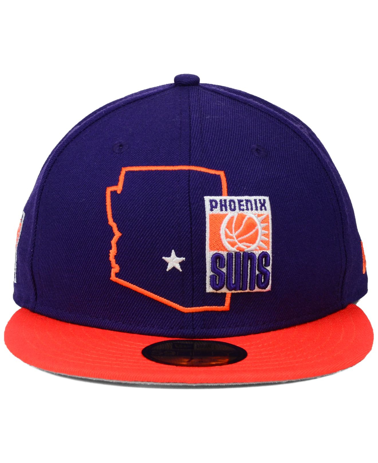 uk availability e0cae 22969 ... wholesale lyst ktz phoenix suns nba hwc states 59fifty cap in purple  for men 6ec41 9acd0