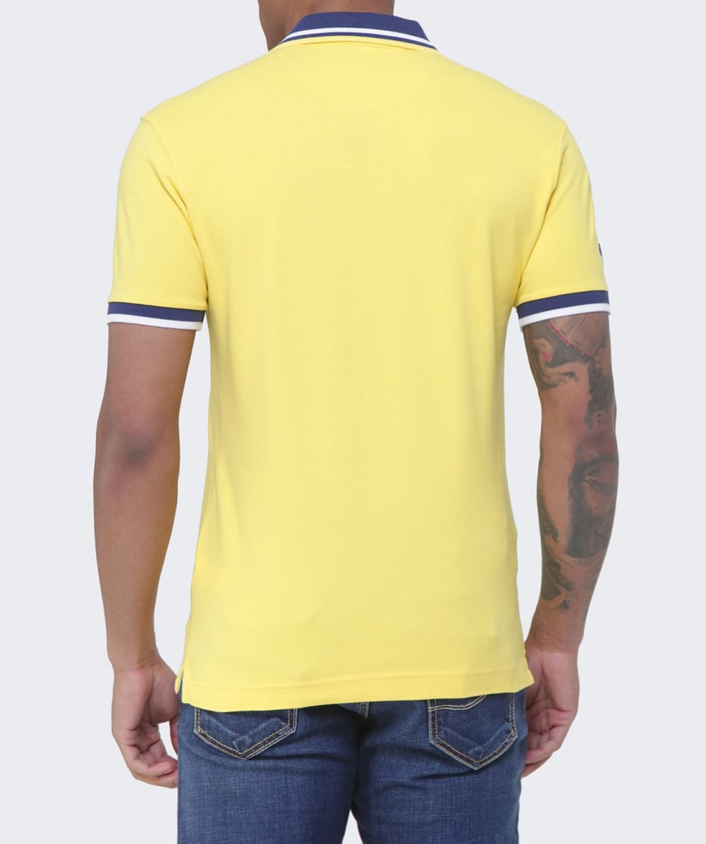 lyst la martina slim fit malco polo shirt in yellow for men. Black Bedroom Furniture Sets. Home Design Ideas