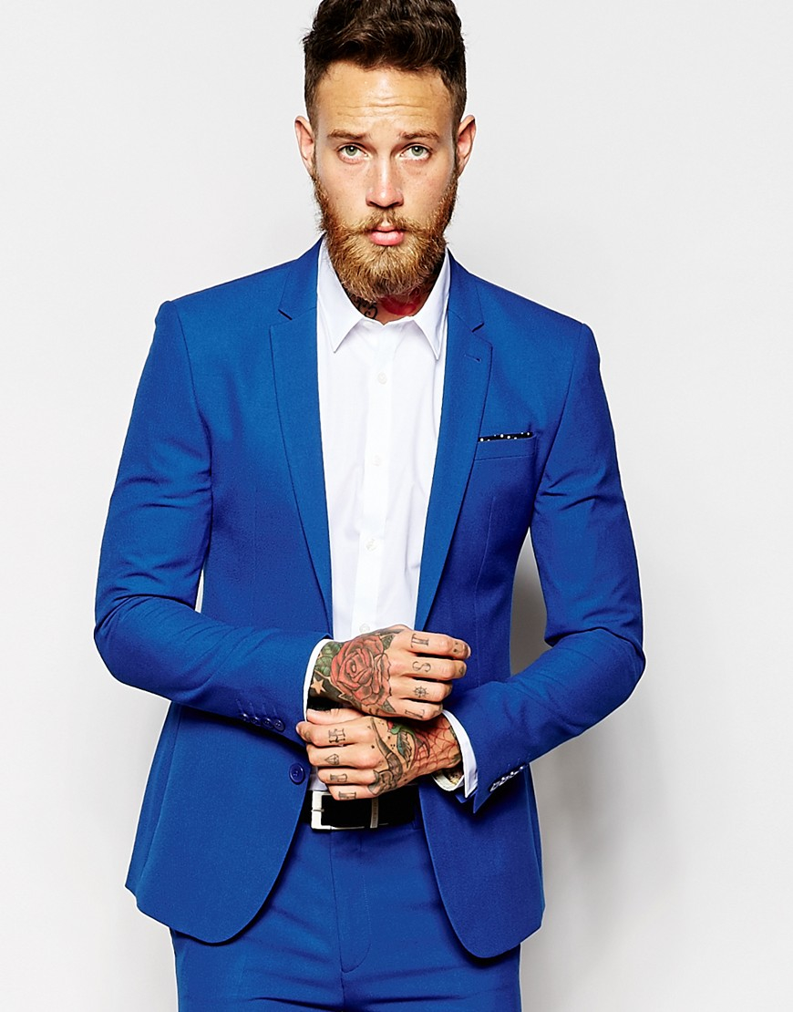 Mens Blue Skinny Suit | My Dress Tip