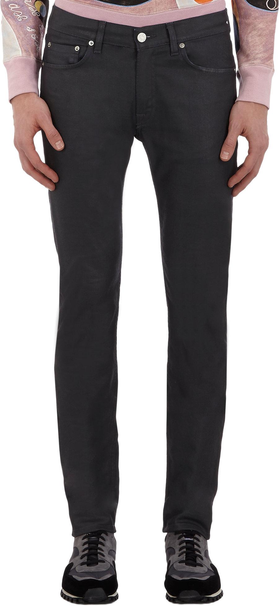 Waxed Skinny Jeans Men
