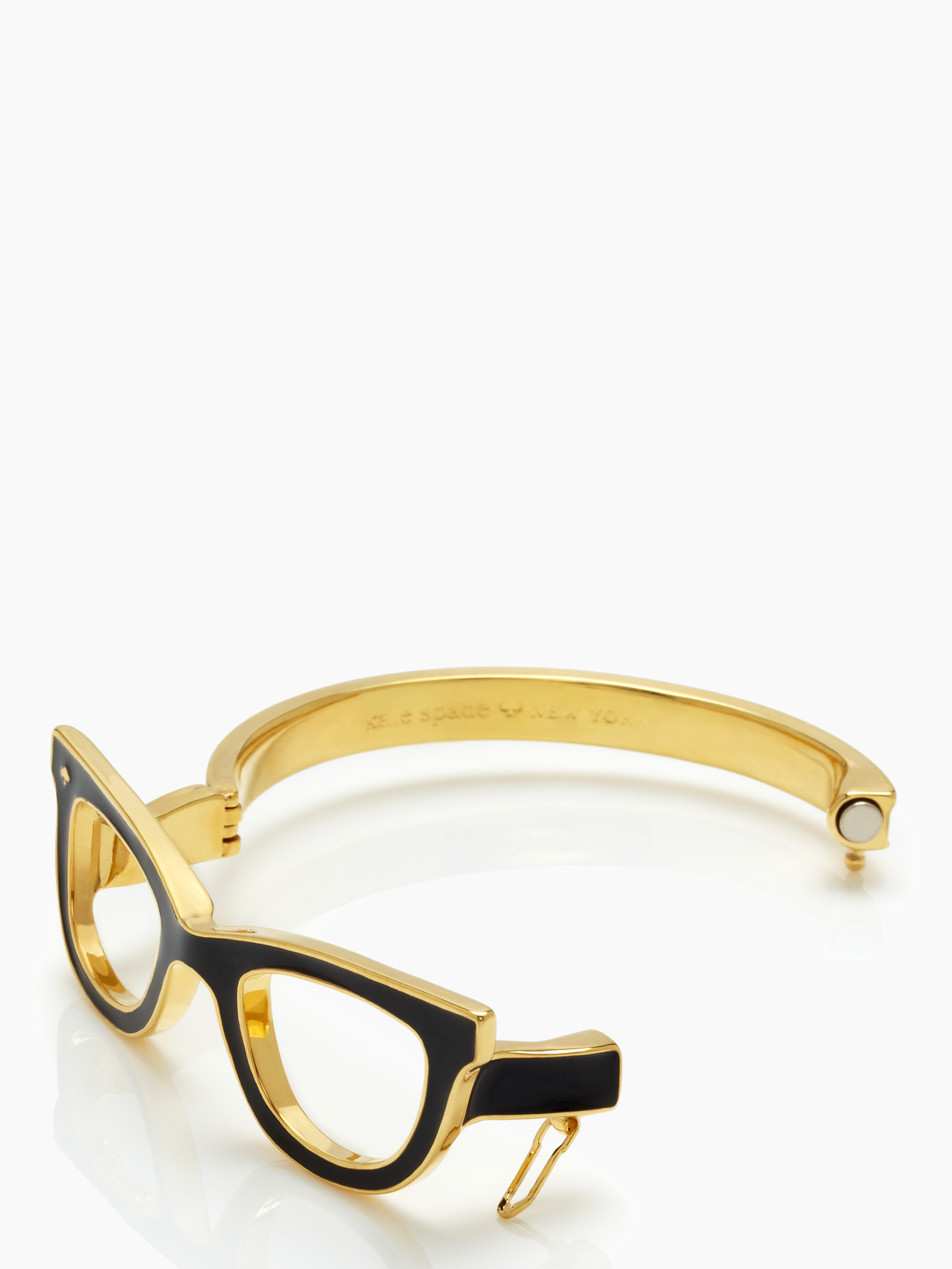 ba564aec676 Lyst - Kate Spade Lookout Glasses Bangle in Metallic