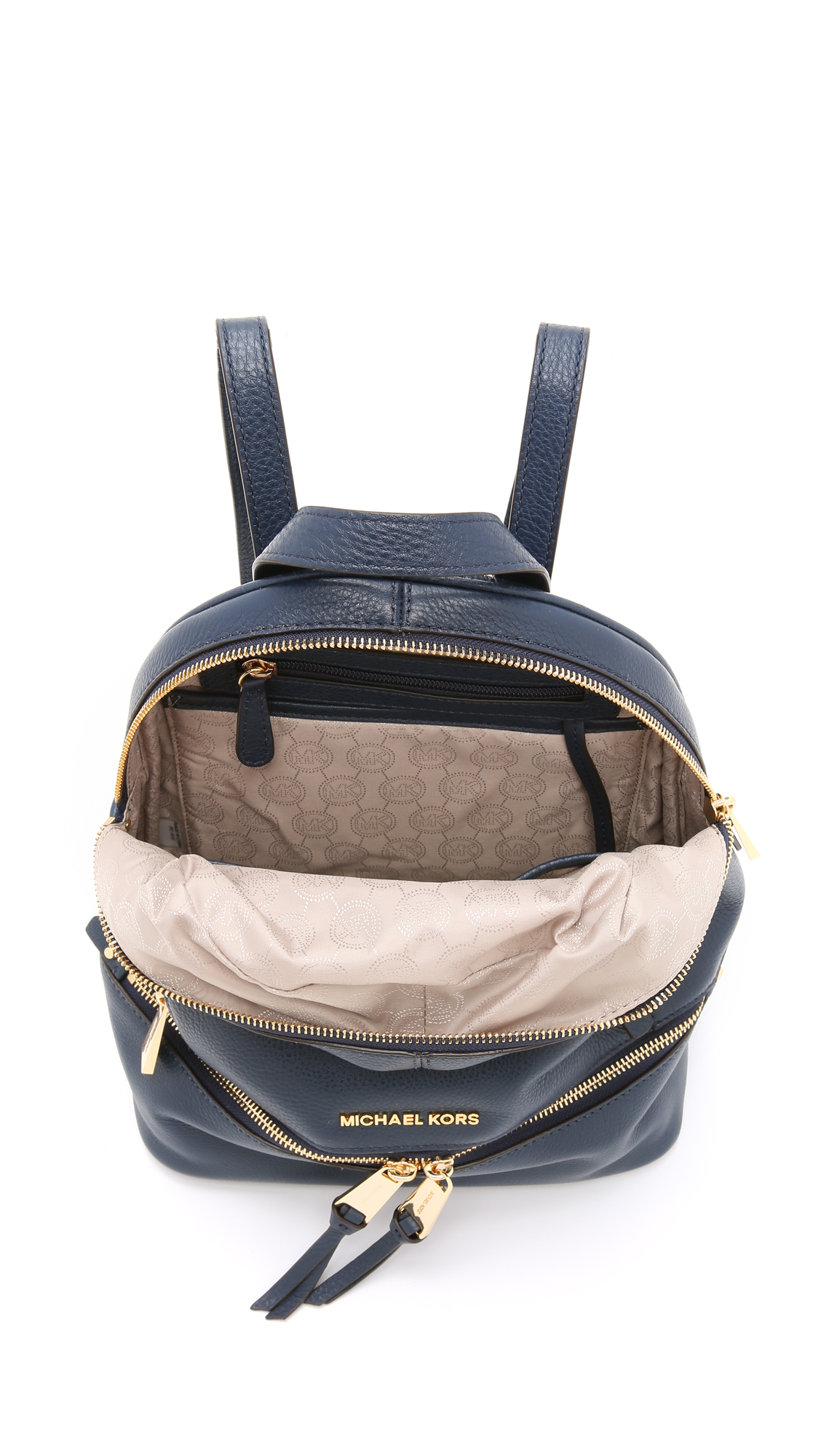 5d0503581f MICHAEL Michael Kors Rhea Backpack - Navy in Blue - Lyst