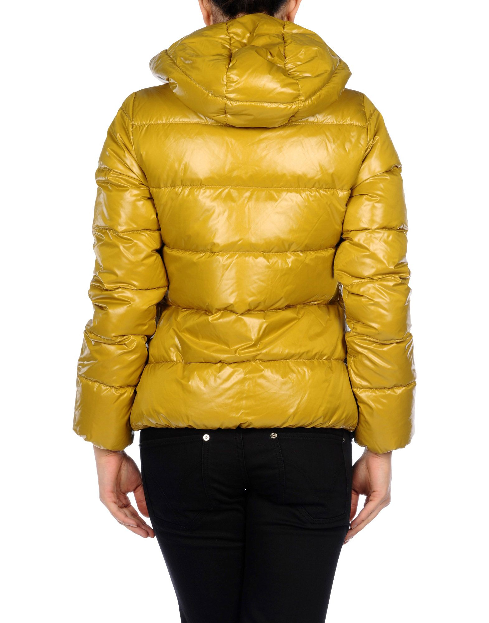 Duvetica Down Jacket In Yellow Lyst
