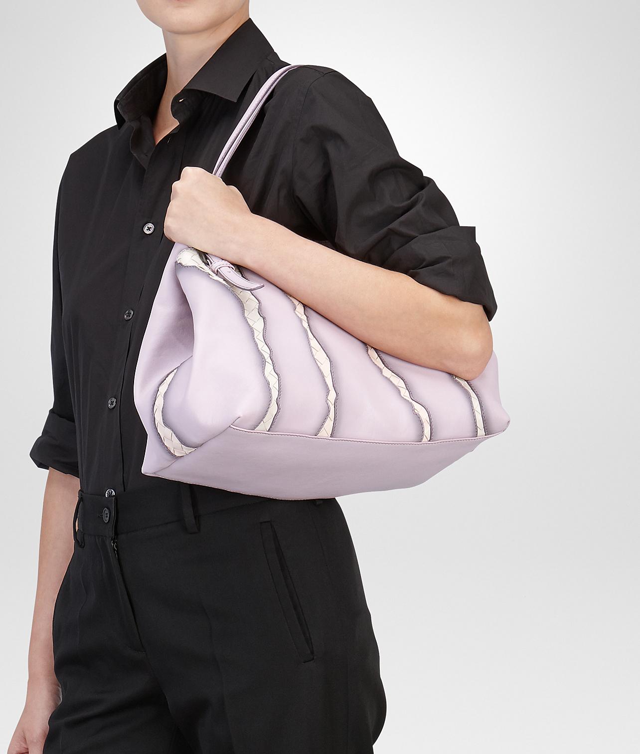 c7f351536 Bottega Veneta Parme Fume Washed Nappa Intrecciato Glimmer Tote Bag ...