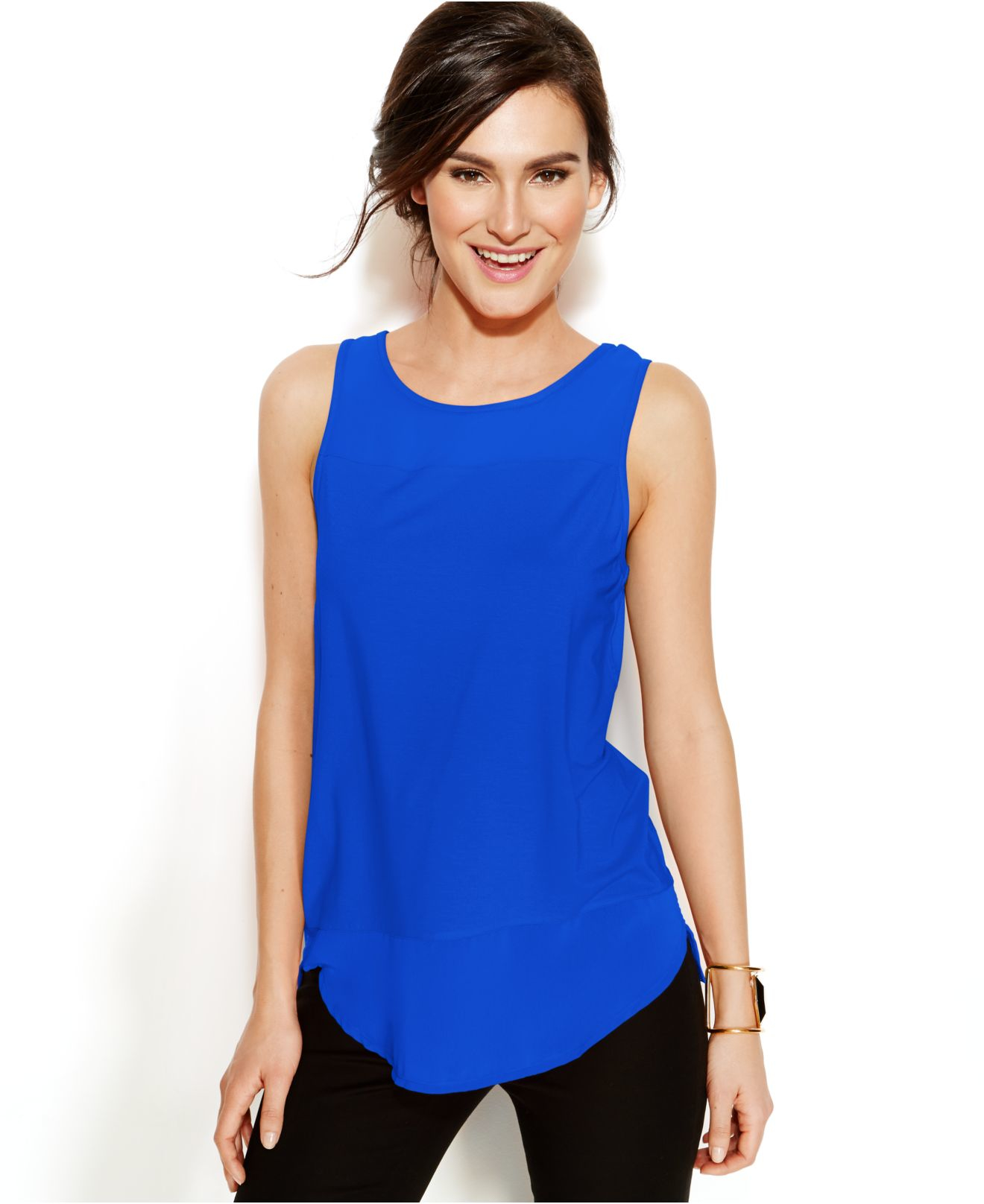 Sleeveless Top - CLOUD BLUE TOPS by VIDA VIDA Cheap Sale Hot Sale bm8zgJls6q