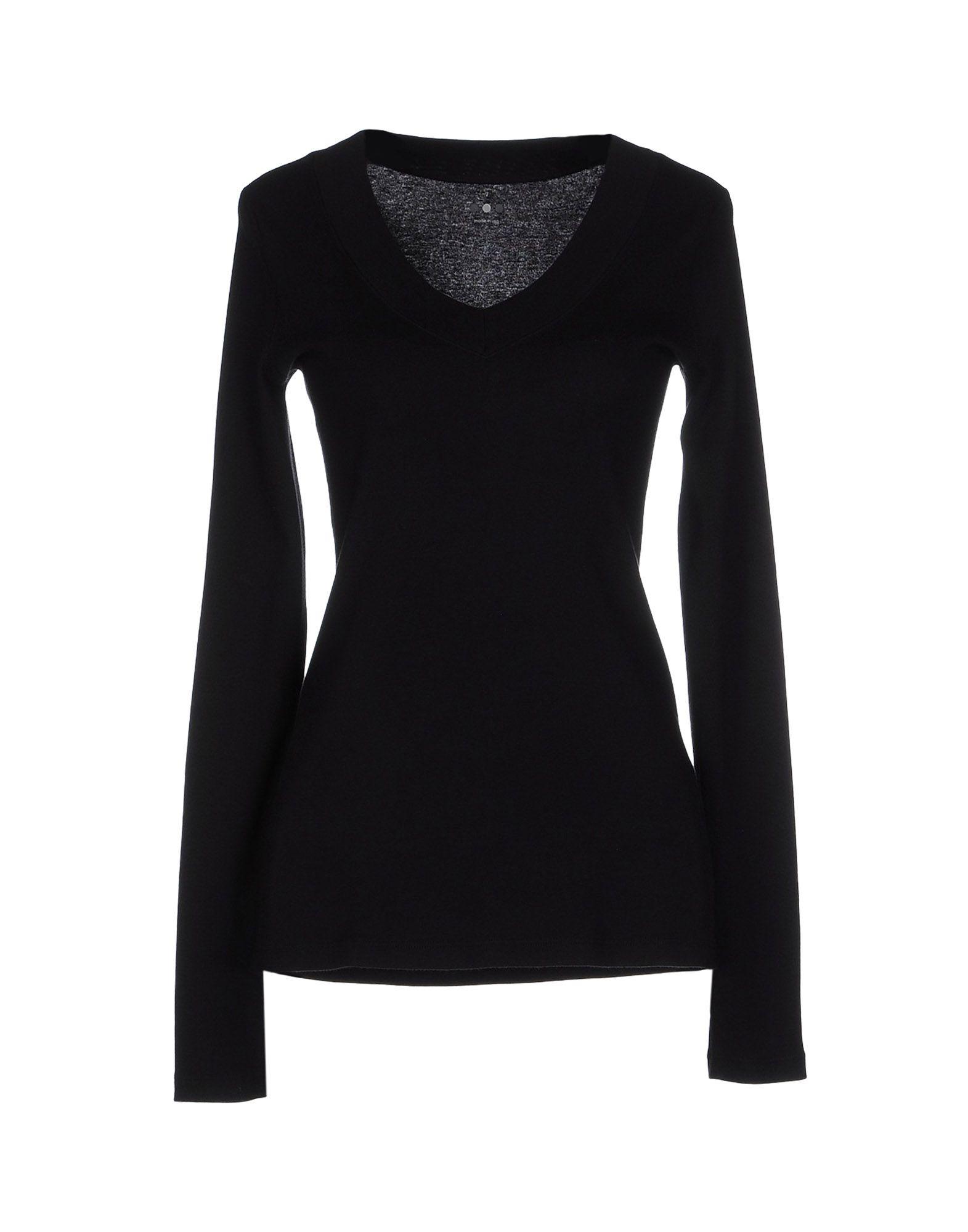 Three Dots T Shirt In Black Lyst