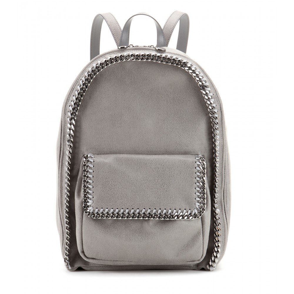 stella mccartney falabella faux suede backpack in gray lyst. Black Bedroom Furniture Sets. Home Design Ideas