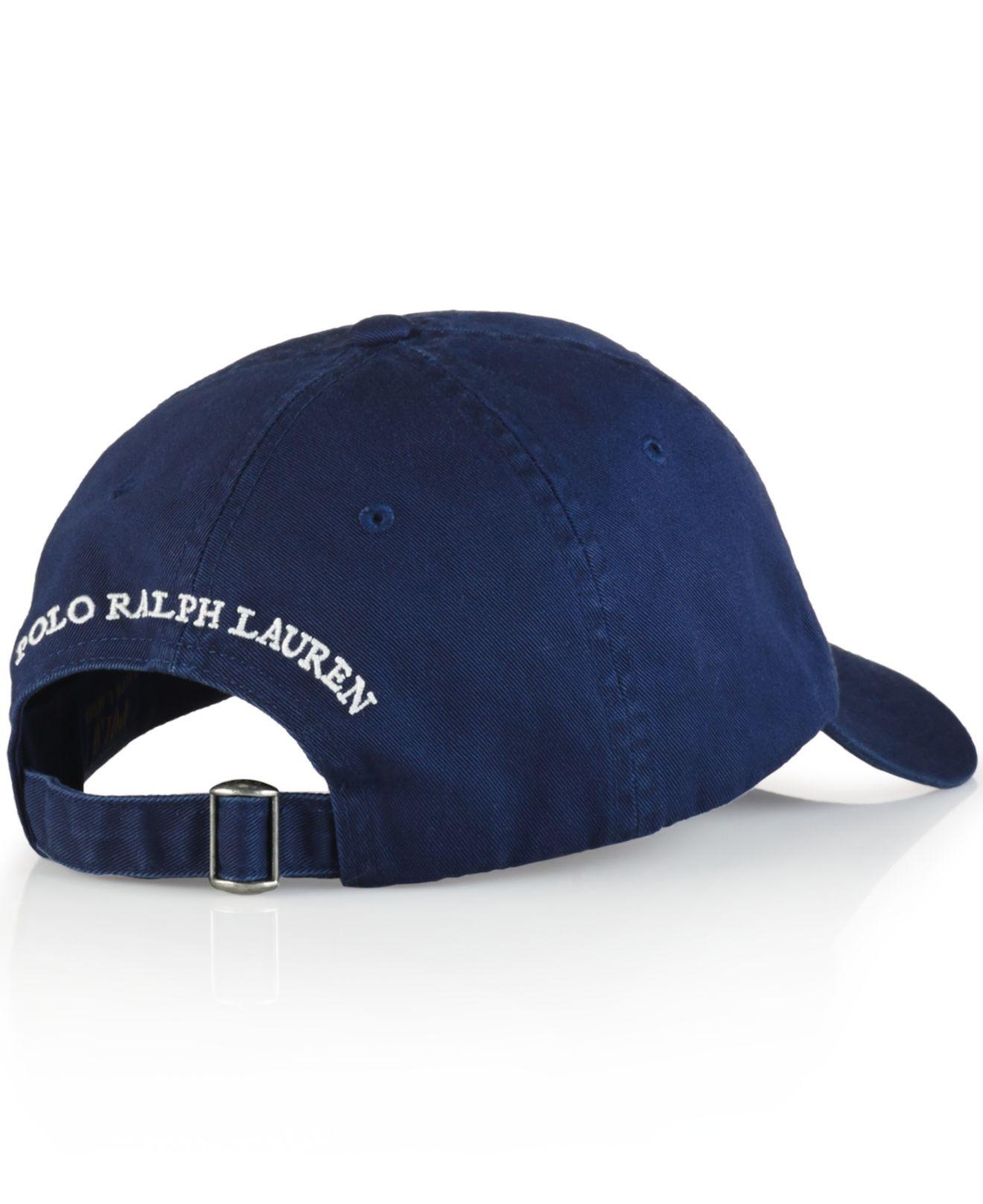 Lyst - Polo Ralph Lauren Polo Bear Chino Baseball Cap - Preppy Polo ... 58463818d90