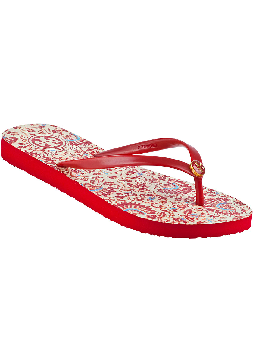 Tory Burch Thin Flip Flop Acai Red In Red  Lyst-5653