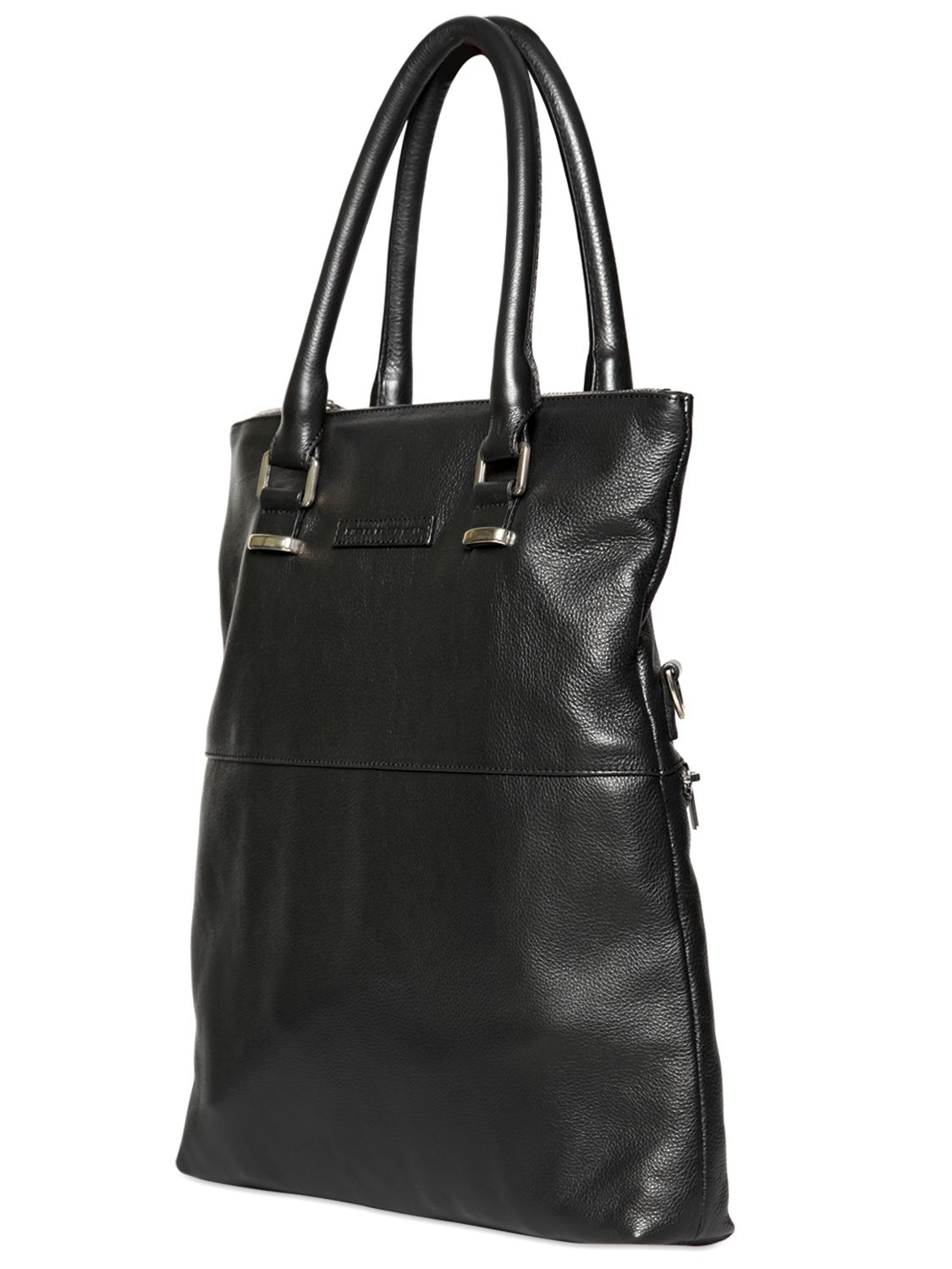 Diesel black gold Soft Leather Shopping Tote Bag in Black for Men ...