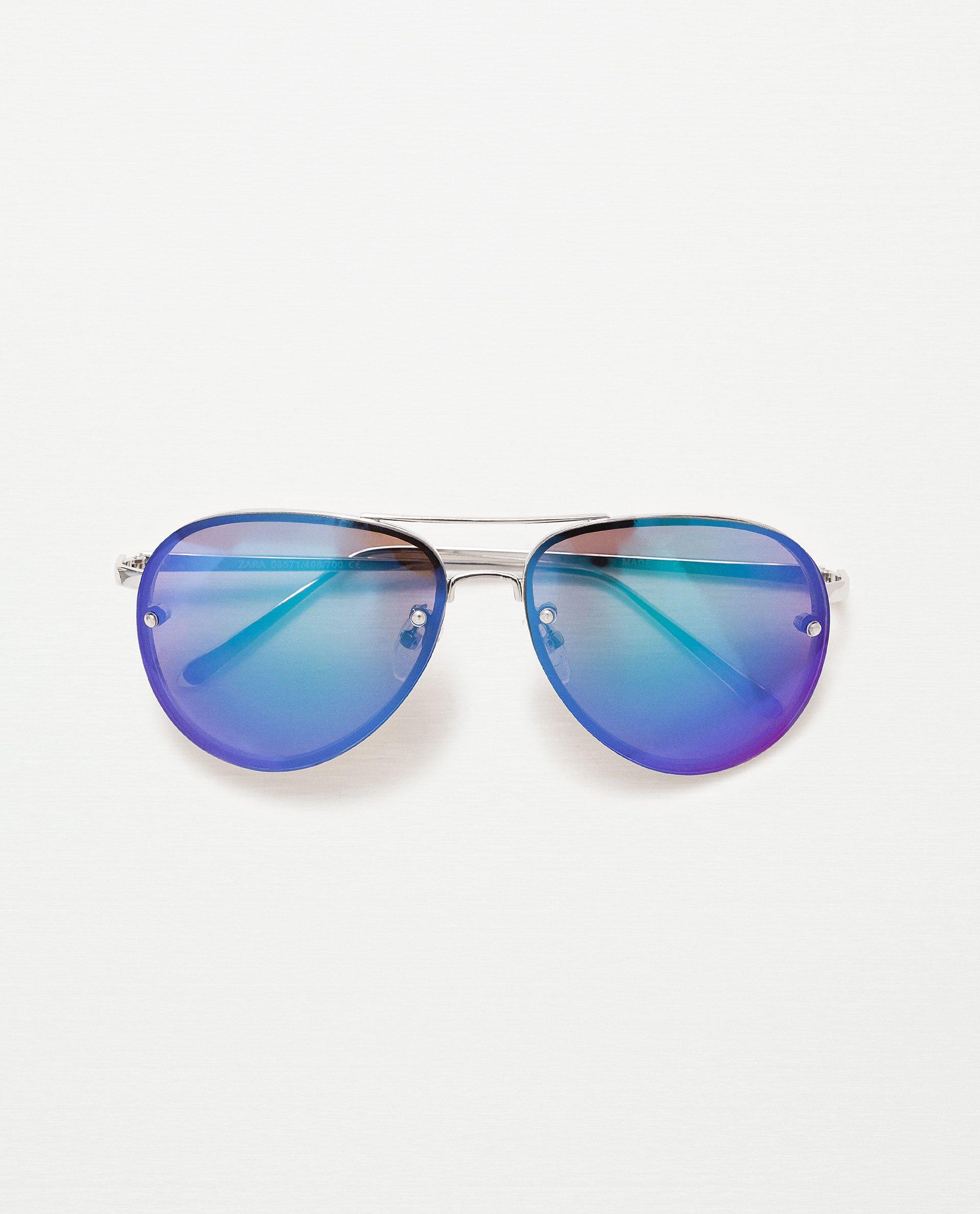 Blue Tinted Aviator Sunglasses  zara blue tint aviator sunglasses blue tint aviator sunglasses in