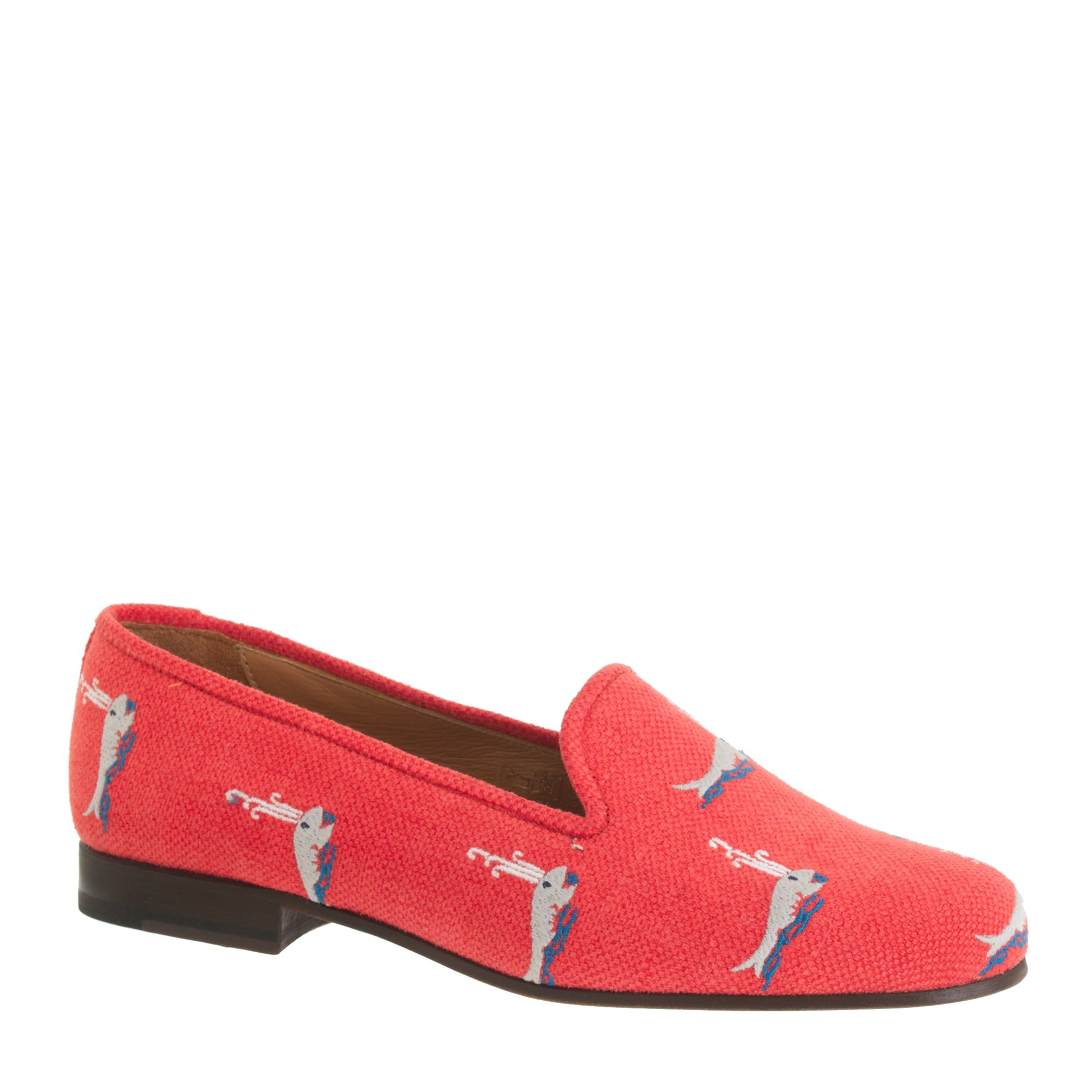 Stubbs wootton for classic linen slippers in red for J crew bedroom slippers