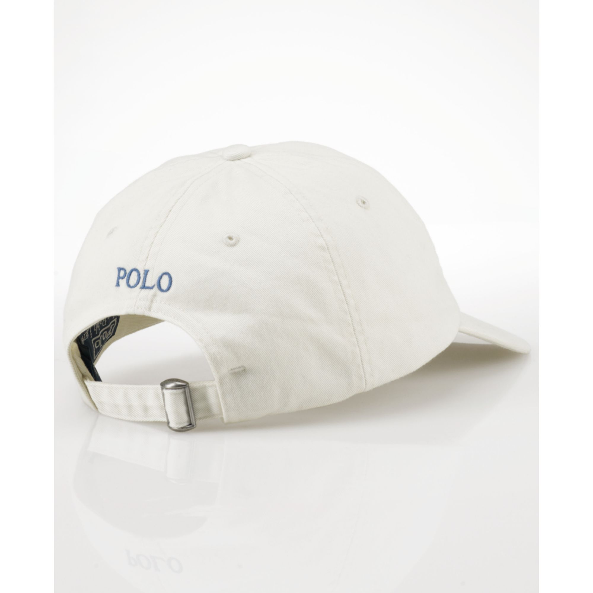 ralph lauren classic chino sports cap in white for men lyst. Black Bedroom Furniture Sets. Home Design Ideas