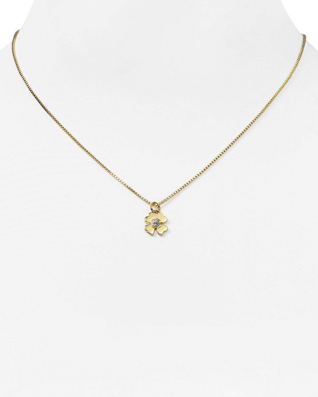 kate spade new york four leaf clover pendant necklace 16