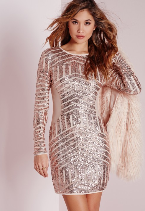 Bodycon dress long sleeve white