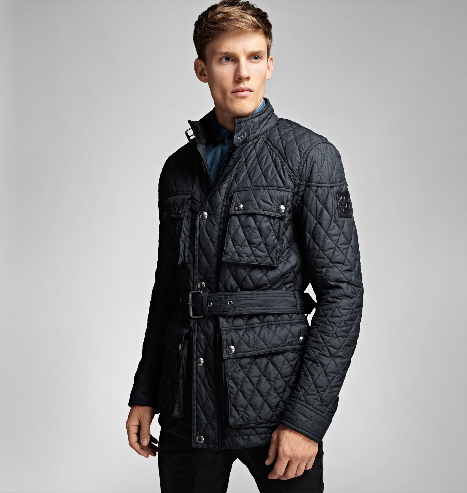 Belstaff Roadmaster Quilted Jacket In Blue For Men Lyst