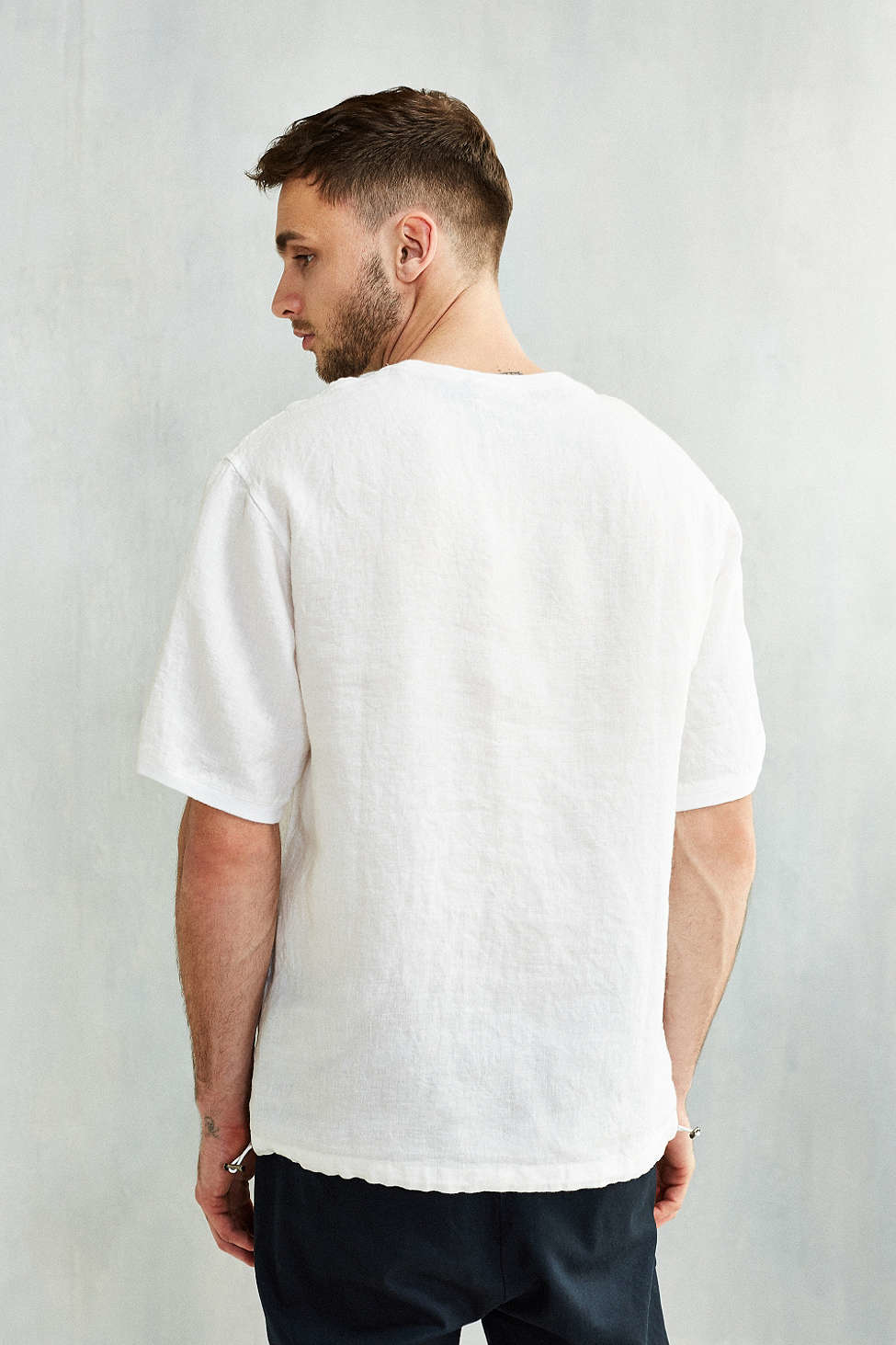 96a41fb126bc9 Lyst - Shades of Grey by Micah Cohen Woven Linen Tee in White for Men