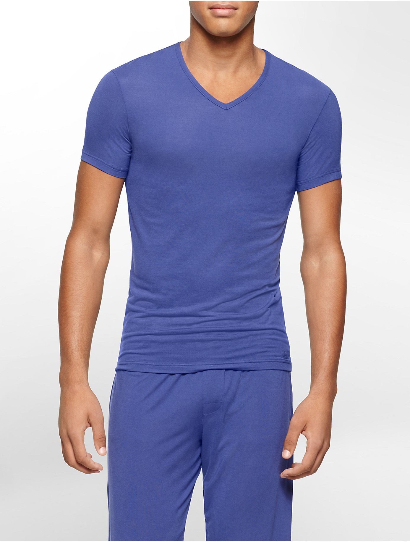 Lyst calvin klein underwear body modal v neck t shirt in for Modal t shirts mens