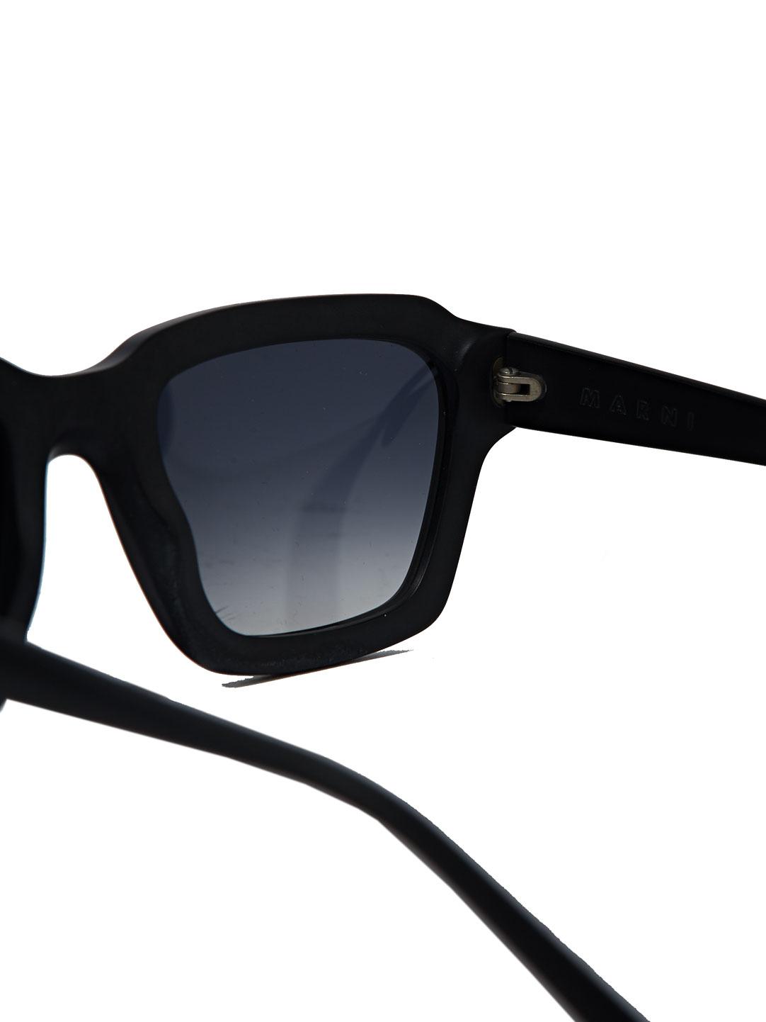 Marni Womens Squared Sunglasses in Black