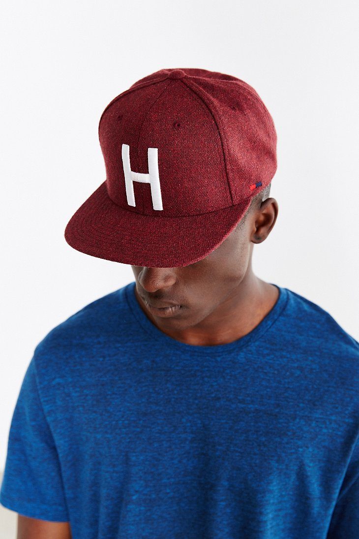 133a172ccab coupon code for lyst herschel supply co. toby h strapback hat in purple for  men