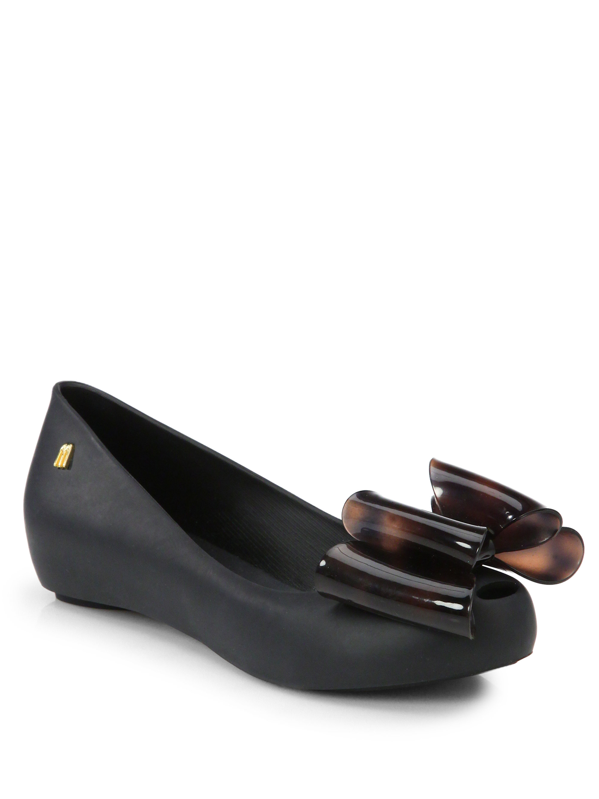 Melissa Black Bow Shoes