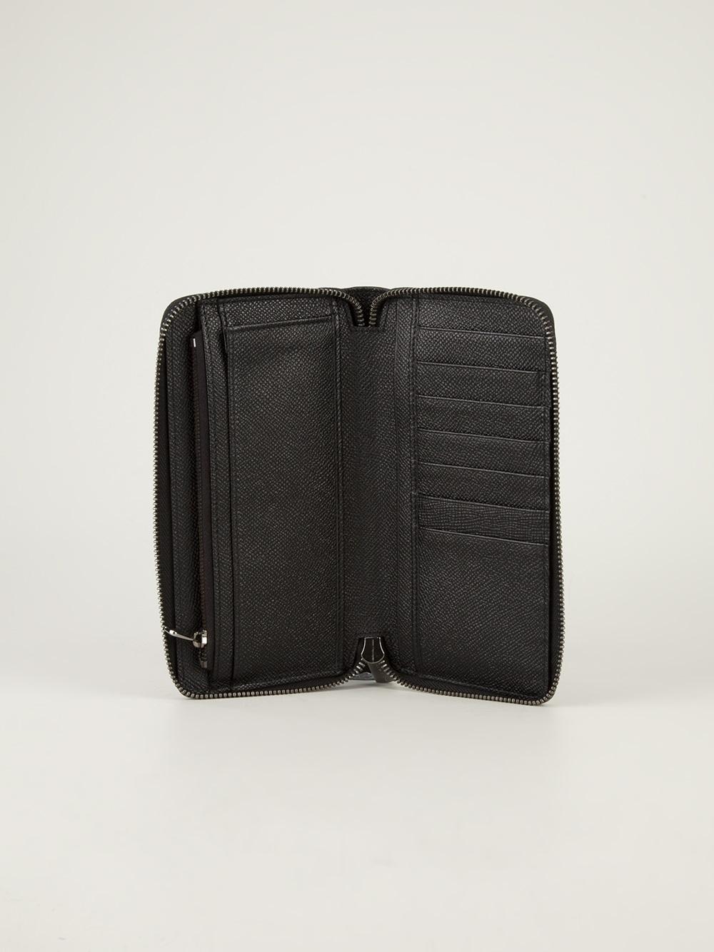 Zip Noir Autour De Portefeuille Avec Des Impressions Intérieures Dolce & Gabbana fs512tnlV