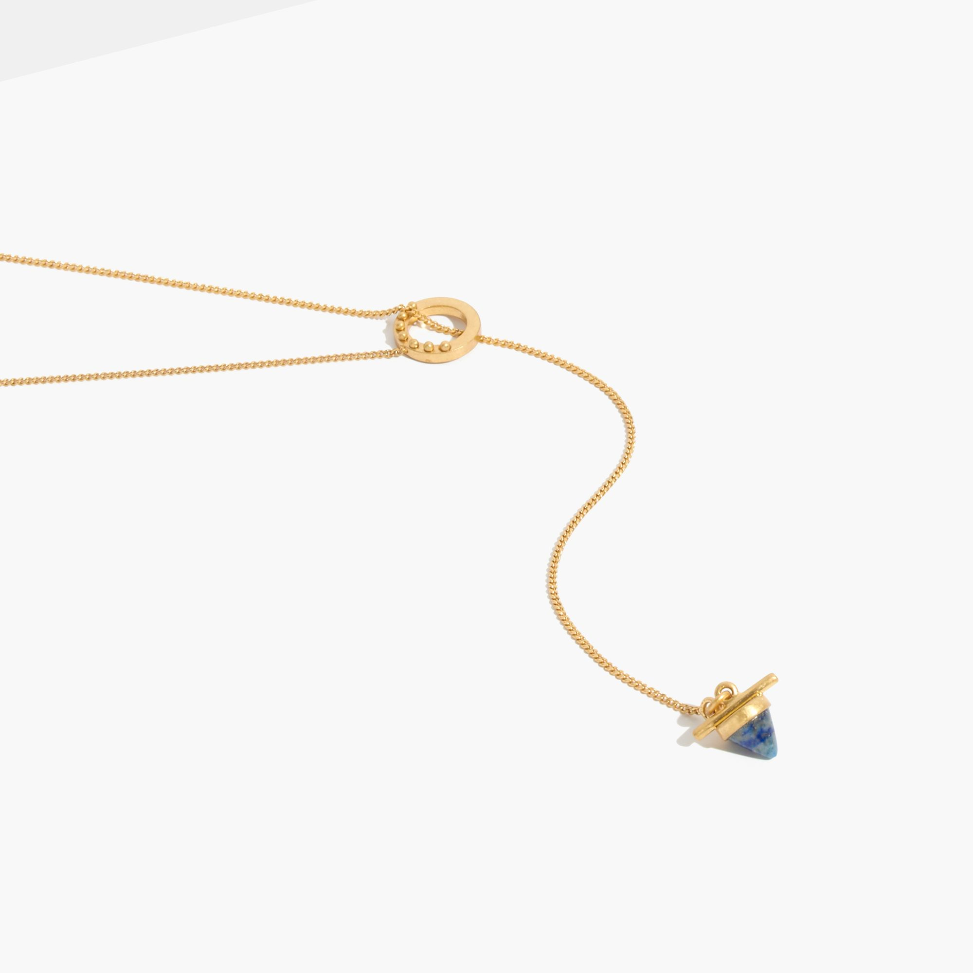 gold backside products pendant lazuli attic lapis necklace
