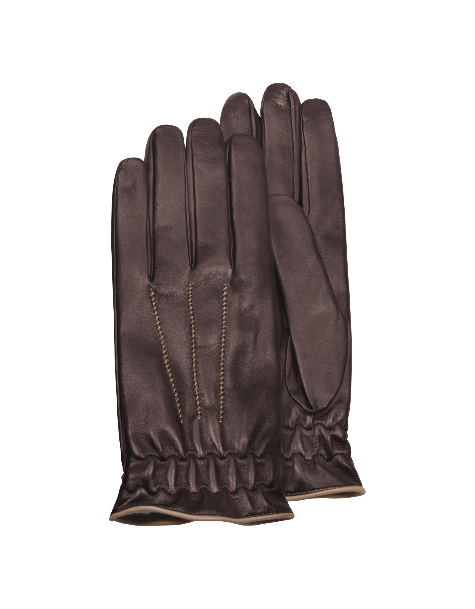 Shop brown leather gloves at Neiman Marcus, where you will find free shipping on the latest in fashion from top designers. More Details Loro Piana Leather Gloves with Cashmere Lining Details Loro Piana leather gloves with dark-brown trim. Cashmere lining. Elasticized vented wrist. Made in Italy. UGG Men's Suede & Leather Smart Gloves.