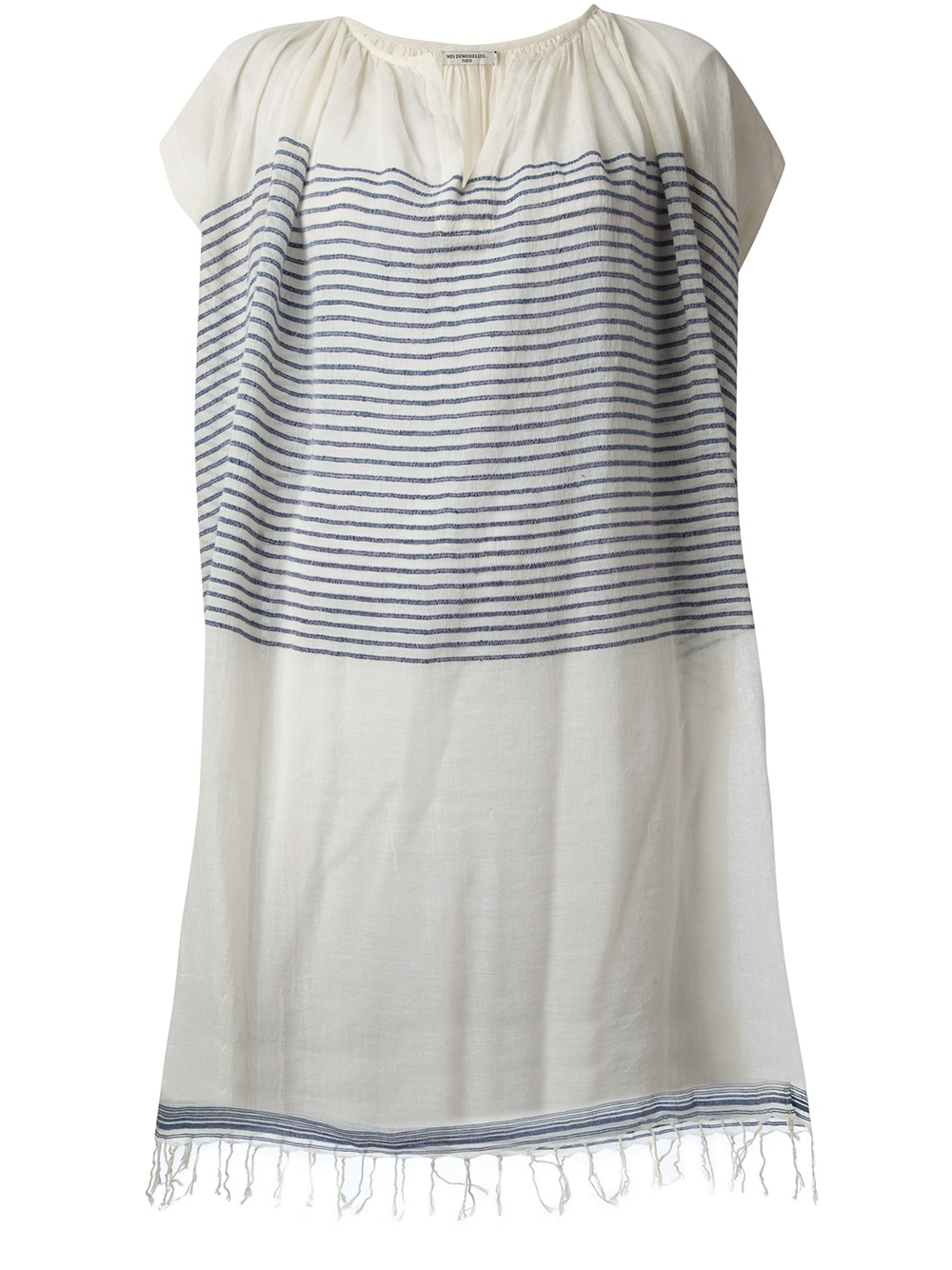 bb77e9f8a2d Mes Demoiselles Donis Oversized Tunic Dress in White - Lyst