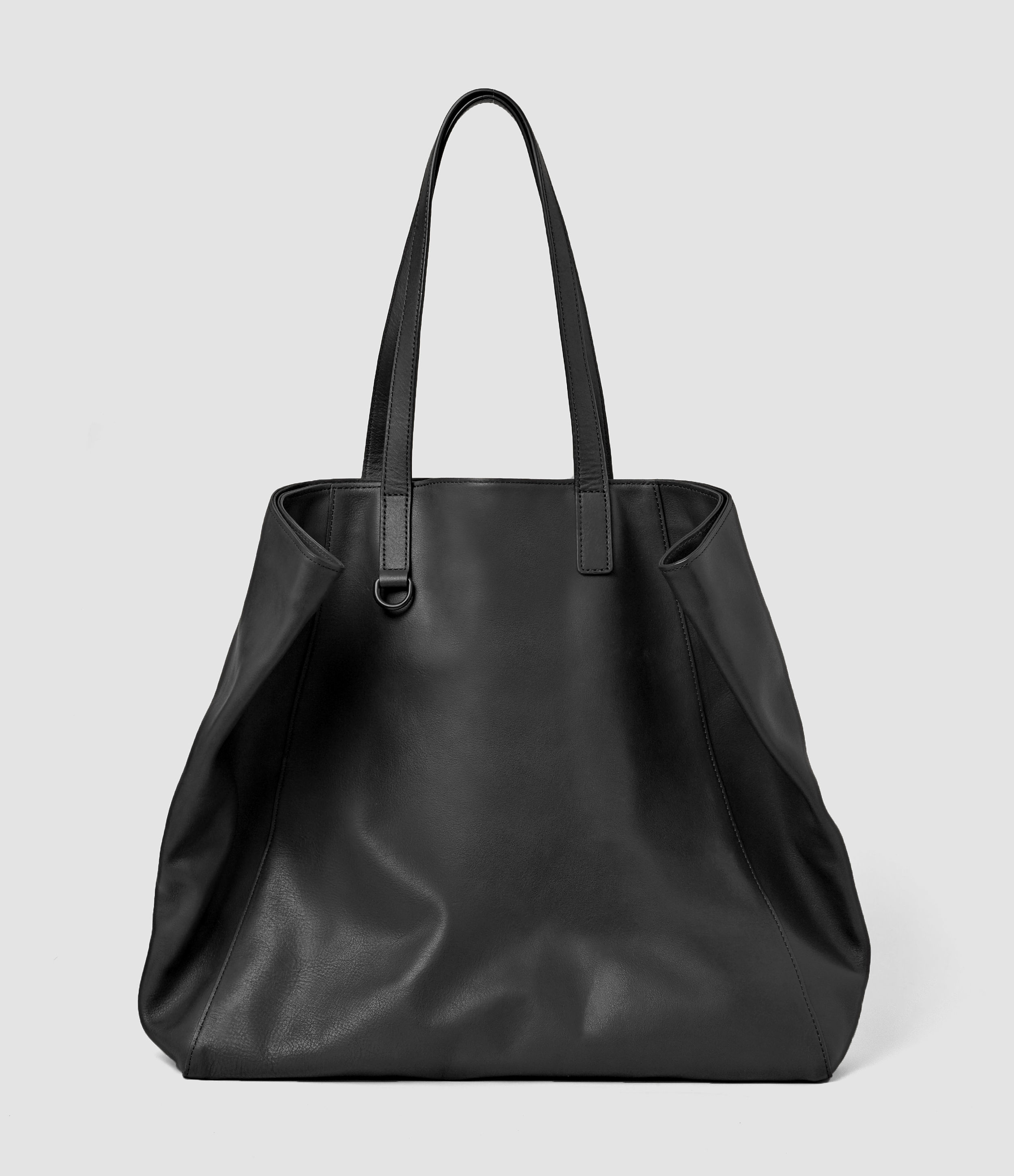Allsaints Dray Leather Tote Bag Usa Usa In Washed Black