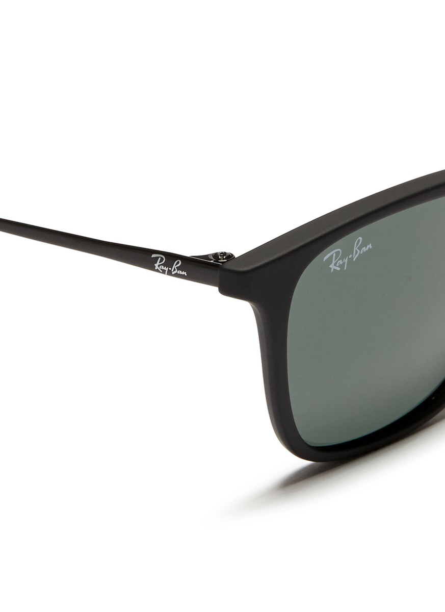 0ac904f5816f0 Lyst - Ray-Ban  Chris Junior  Acetate Frame Wire Temple Sunglasses ...