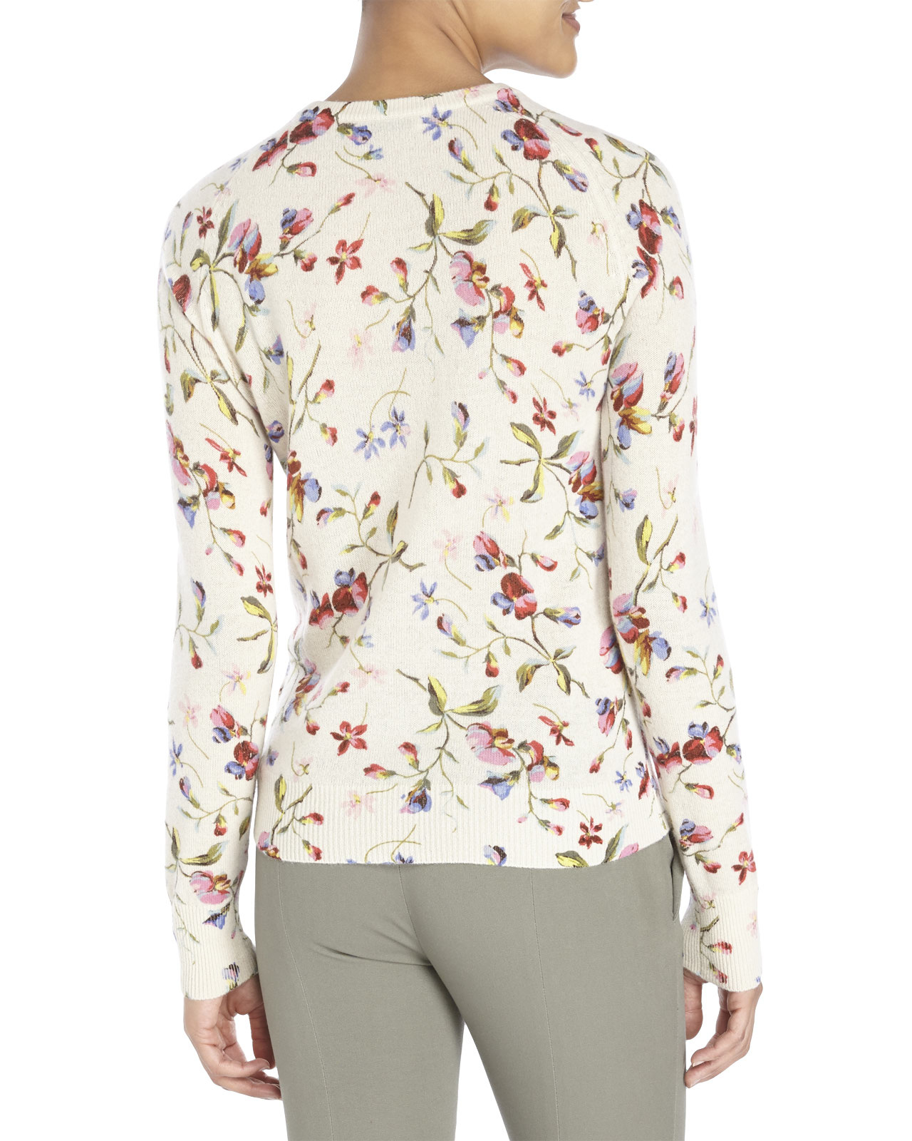 Equipment Sloane Floral Cashmere Sweater | Lyst