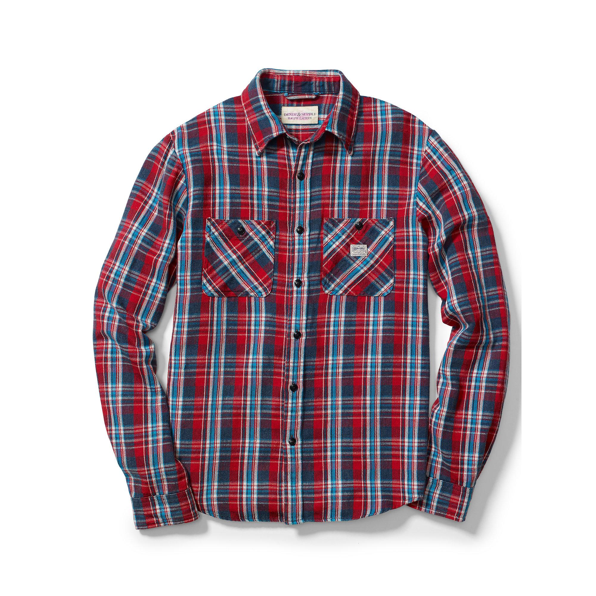 175ee862c Lyst - Denim   Supply Ralph Lauren Ward Plaid Cotton Twill Shirt in ...