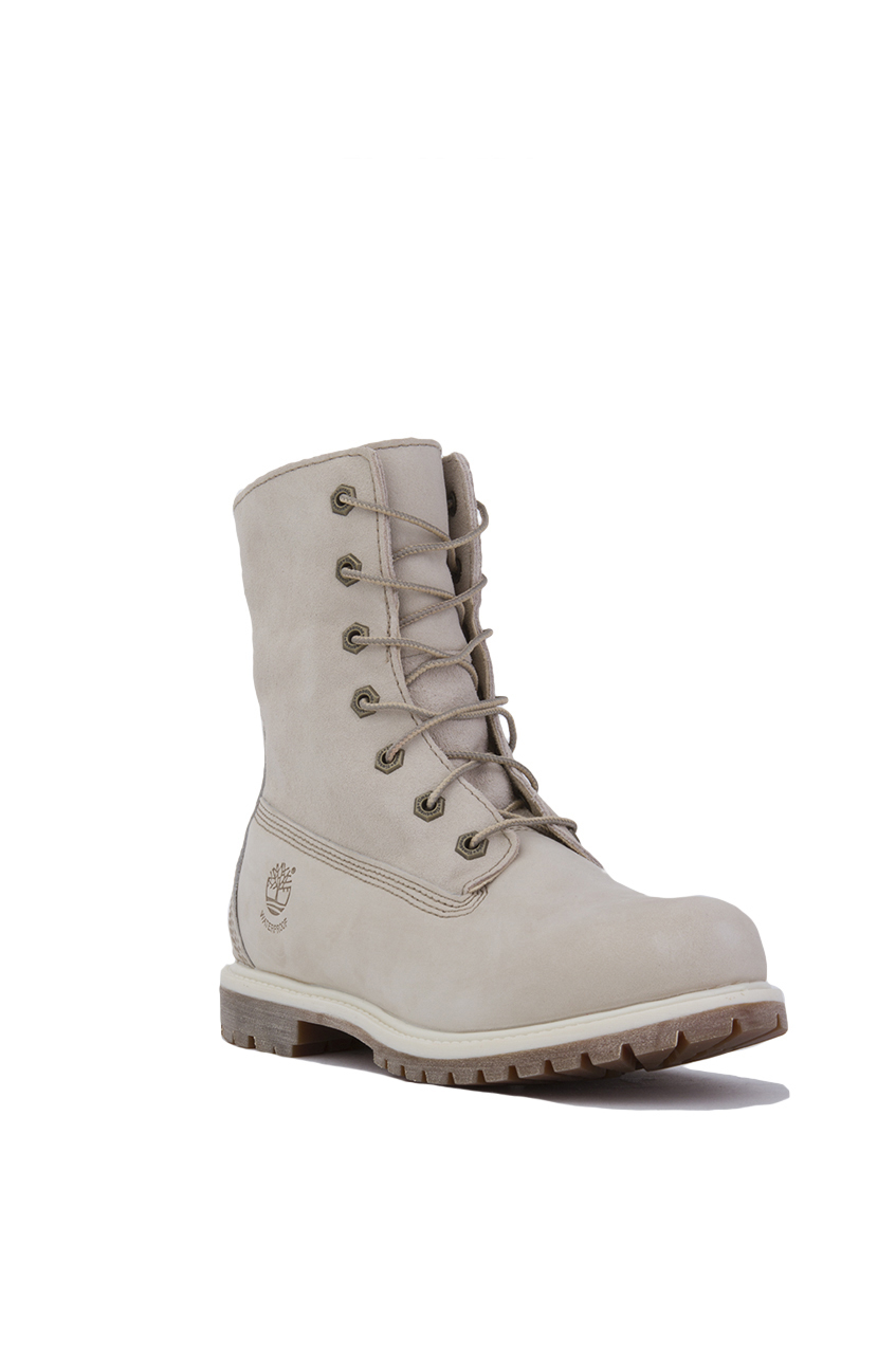 sale retailer 9756f 0a29b Timberland Women s Authentics Teddy Fleece Fold Down Boots in White ...