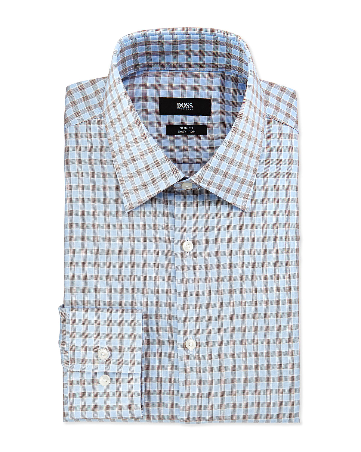 Lyst Boss Slim Fit Easy Iron Tattersall Check Dress