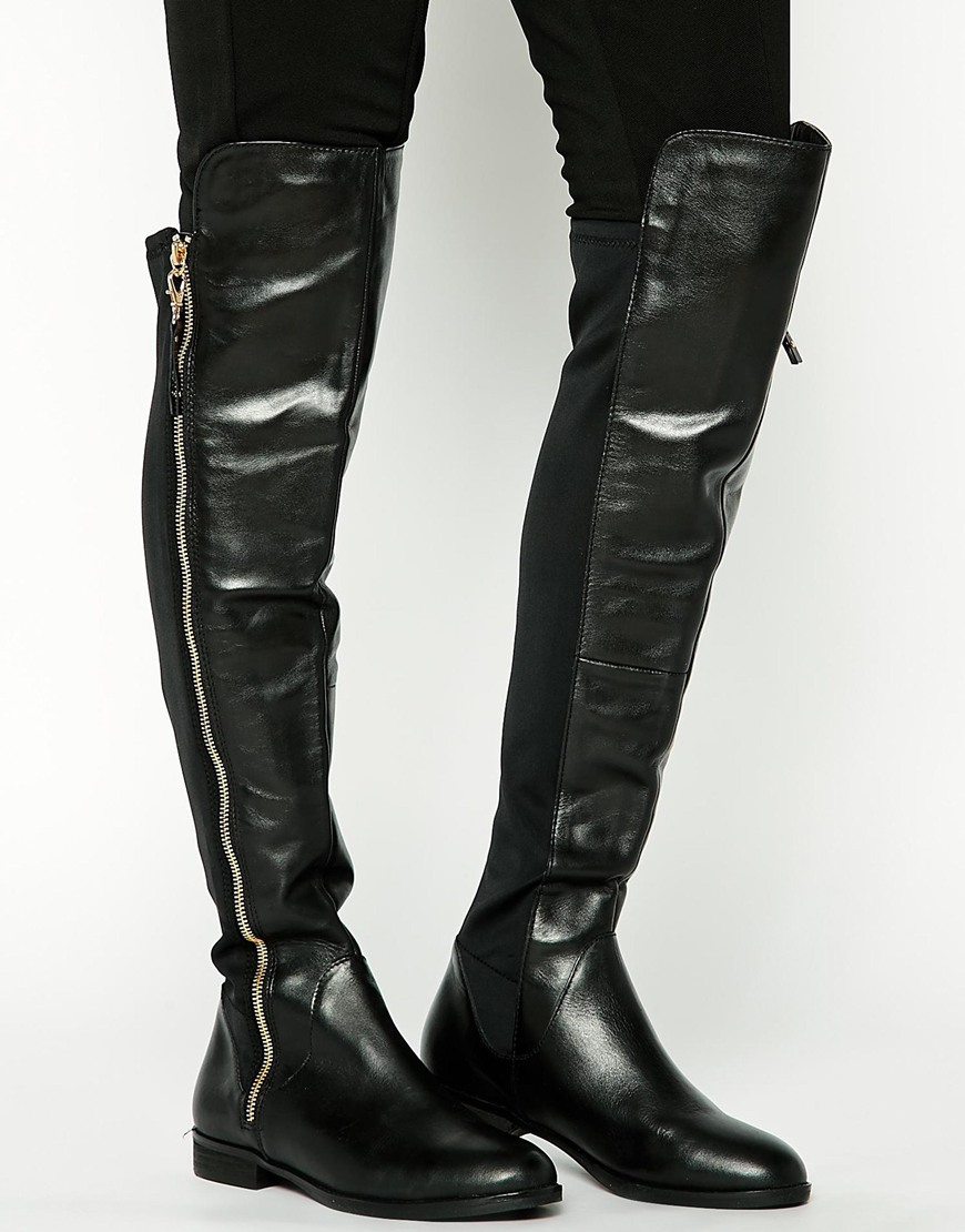 Aldo Uliawen Over The Knee Flat Riding Boots in Black | Lyst
