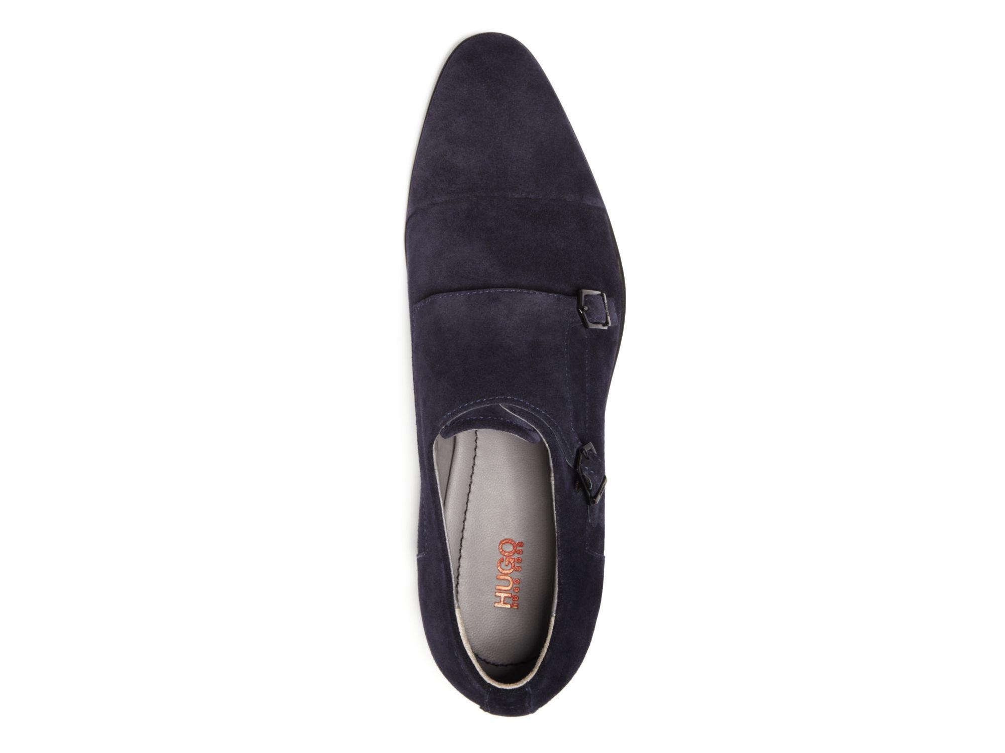 Hugo Boss Leather Monk Shoes