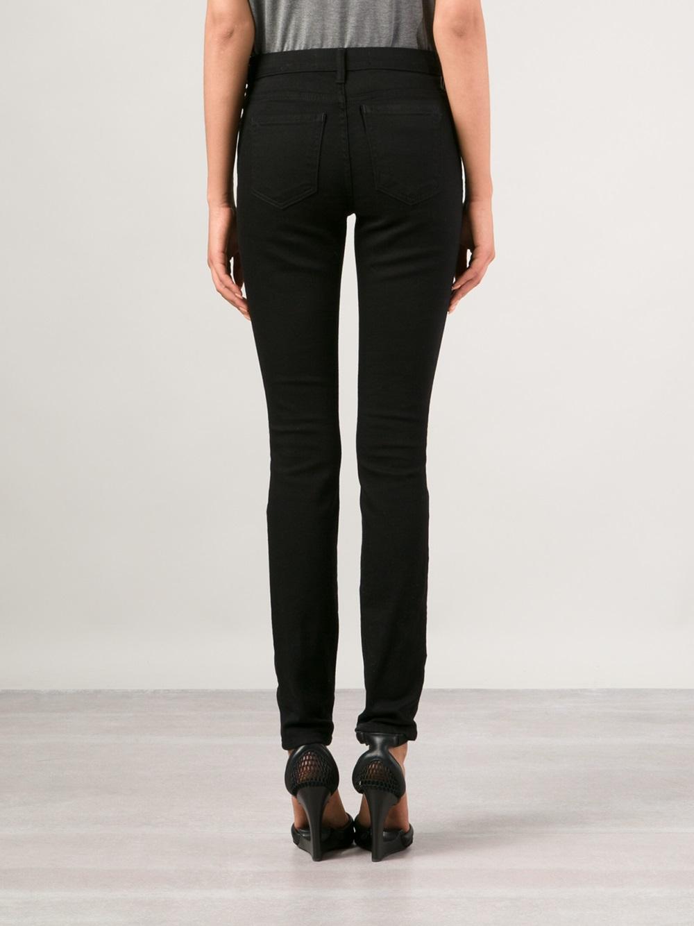 T by alexander wang Wang 001 Stay Skinny Jeans in Black | Lyst