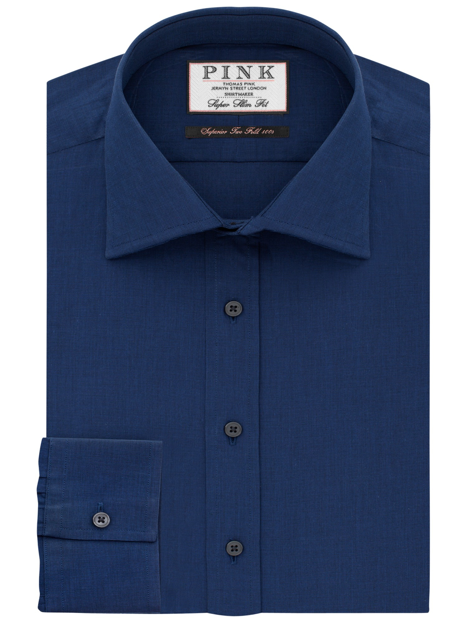 Thomas Pink Derick Plain Super Slim Fit Shirt In Blue For