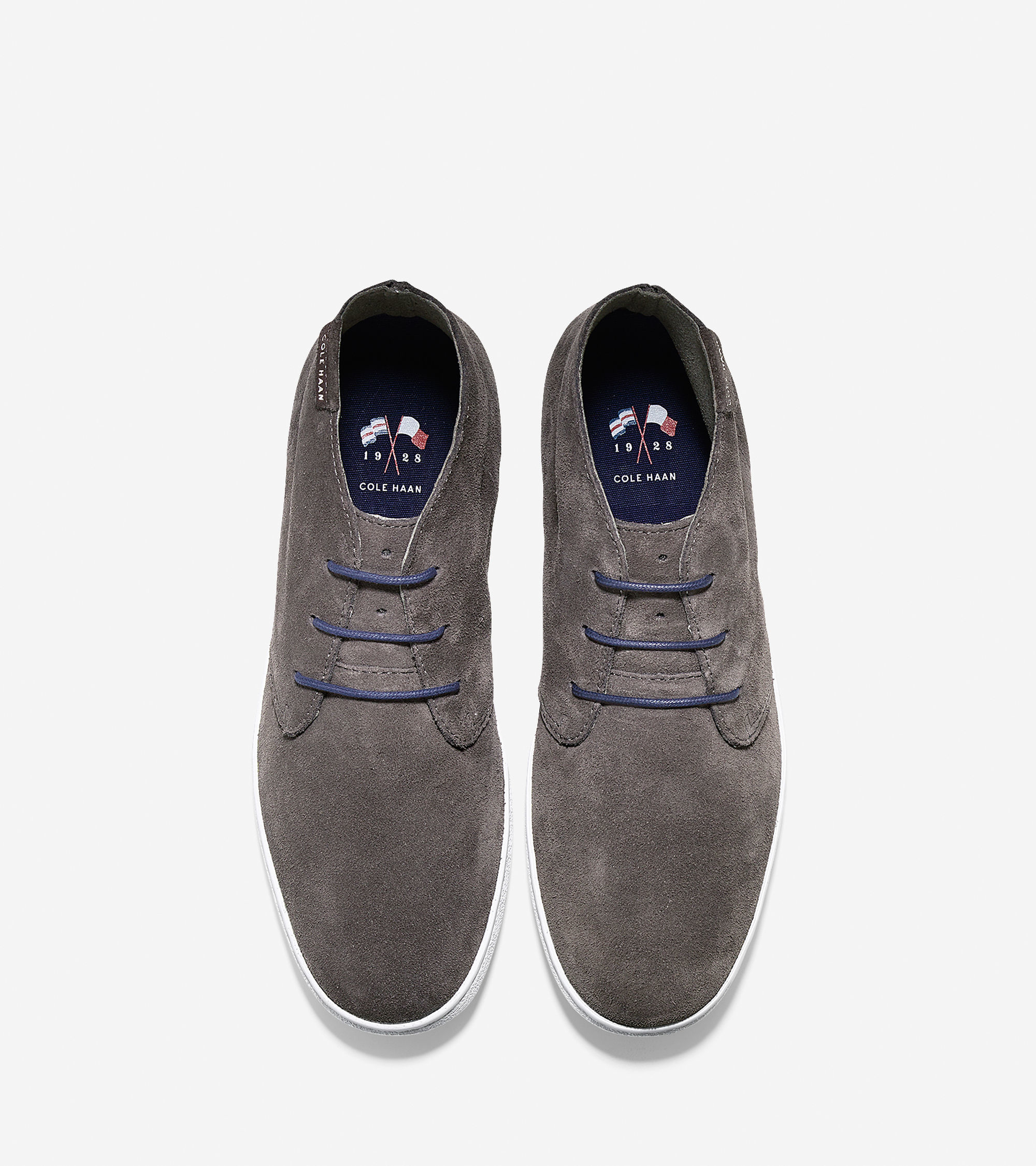cole haan nantucket suede chukka boots in gray for lyst