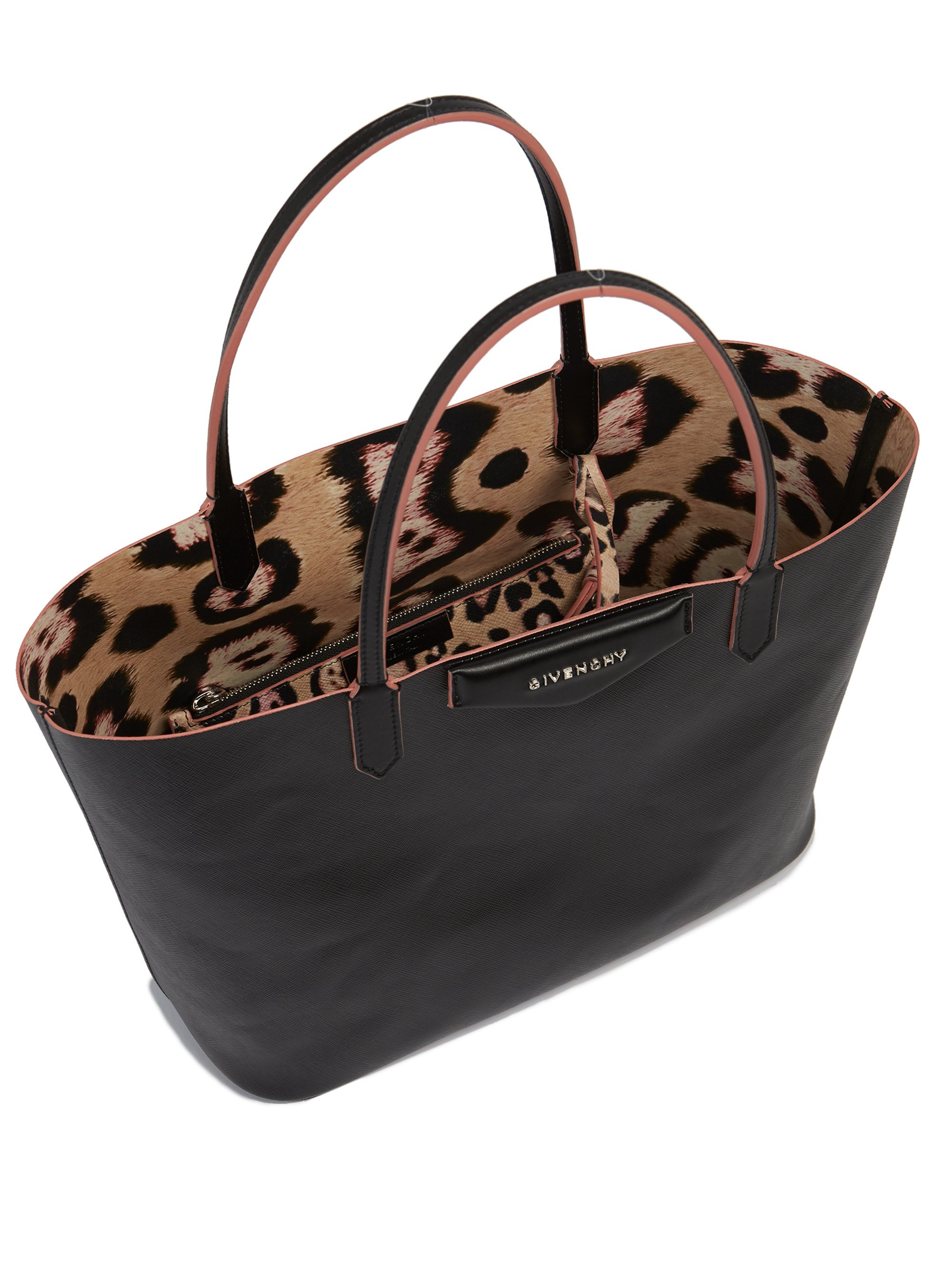 Lyst - Givenchy Antigona Small Coated Canvas Tote in Black 0bc029980a