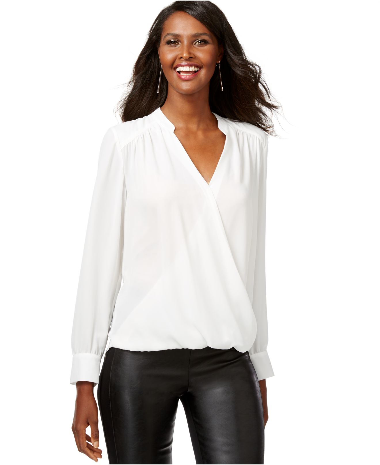 Macys Womens Long Sleeve Blouse 21